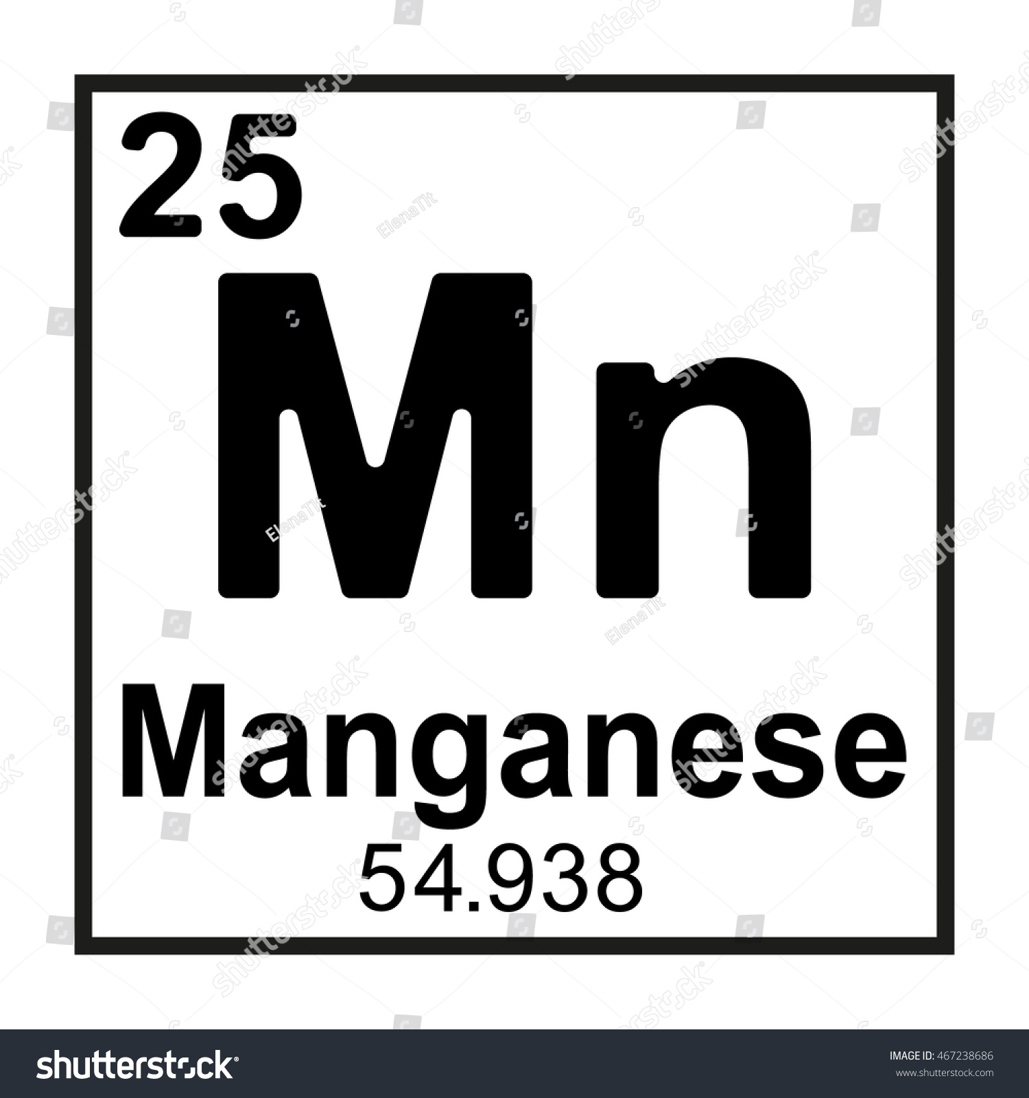 Periodic table element manganese stock vector 467238686 shutterstock periodic table element manganese gamestrikefo Images