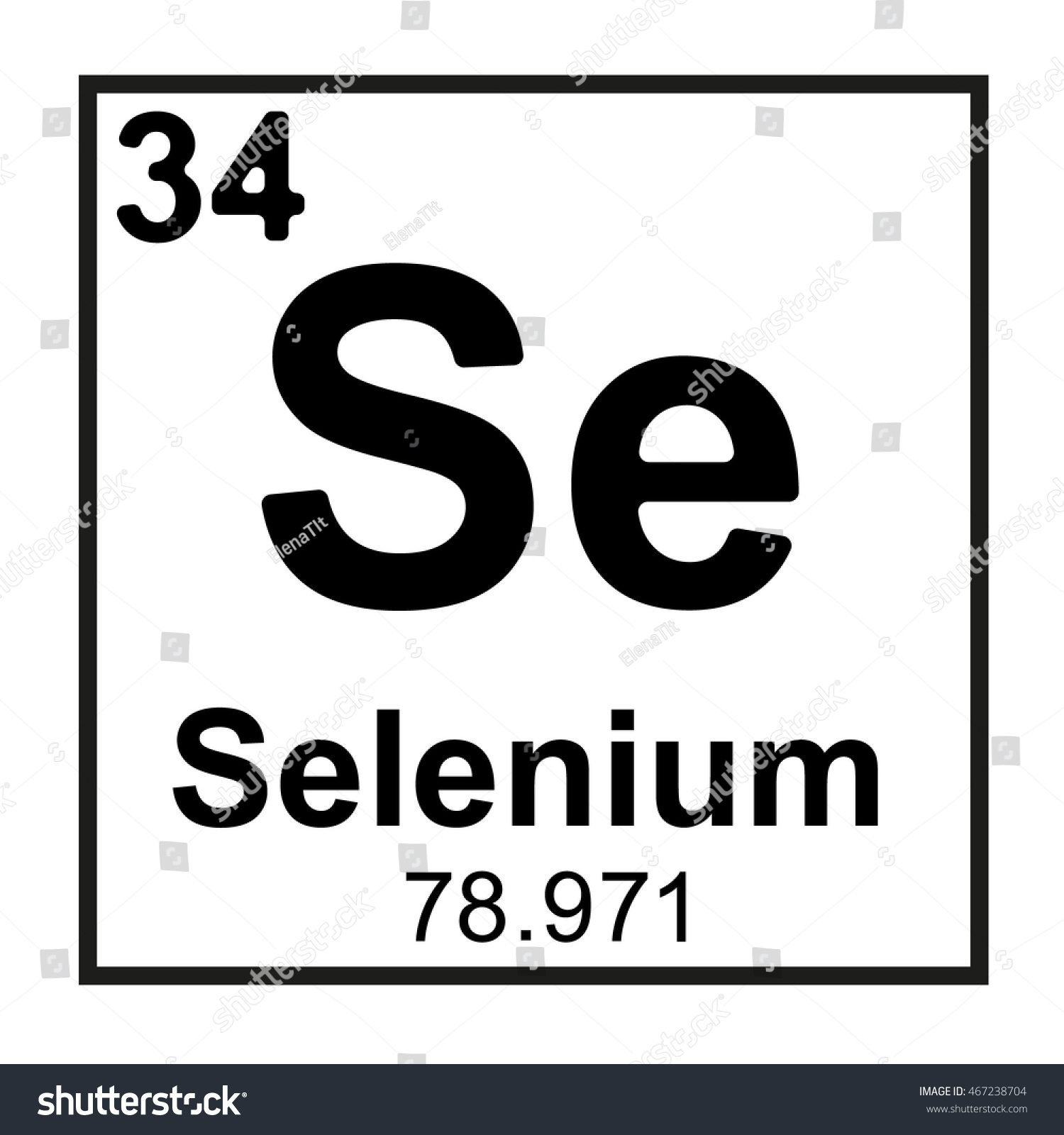 Periodic table element selenium stock vector 467238704 shutterstock periodic table element selenium gamestrikefo Image collections