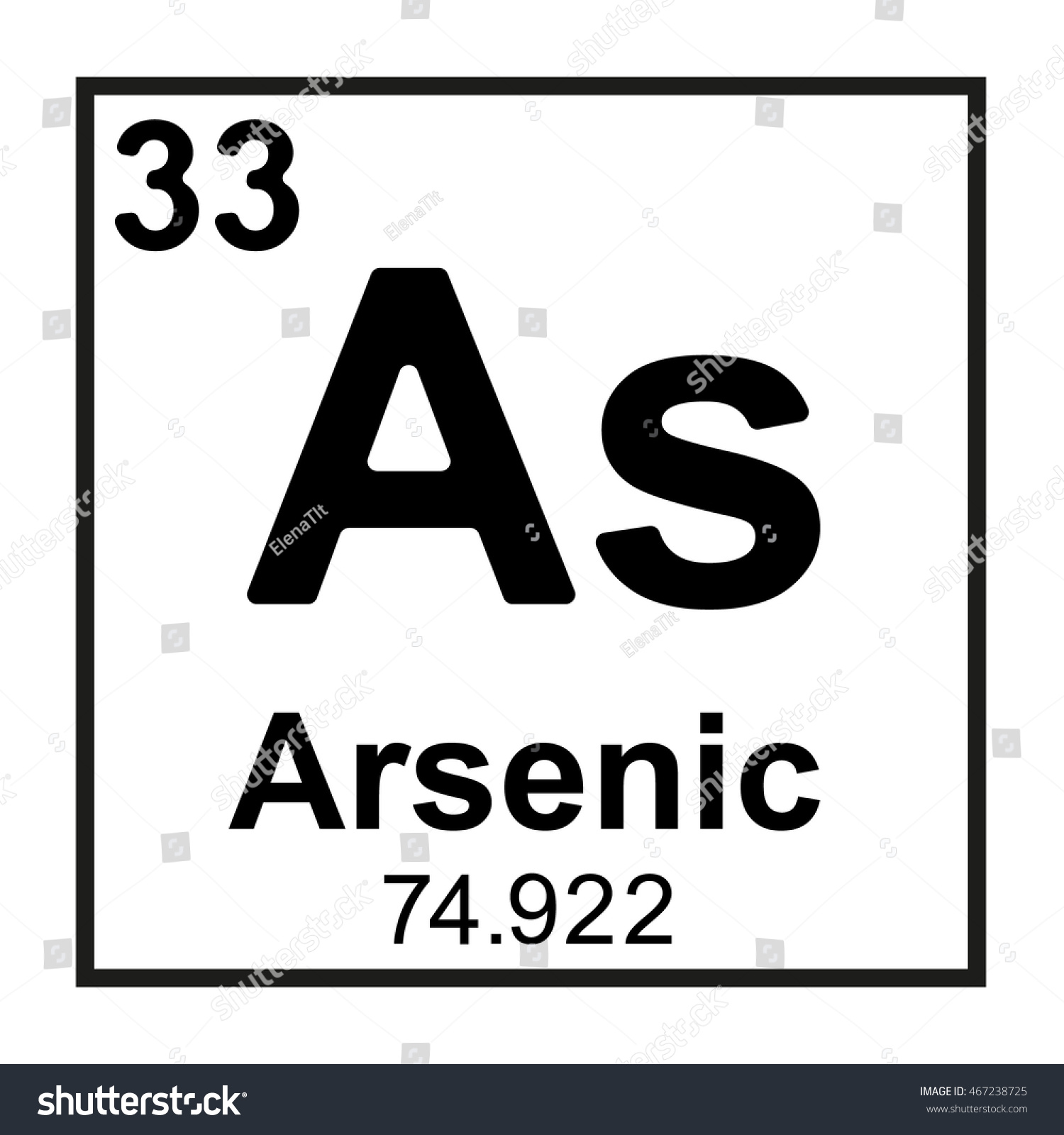 Periodic table element arsenic stock vector 467238725 shutterstock periodic table element arsenic biocorpaavc Image collections