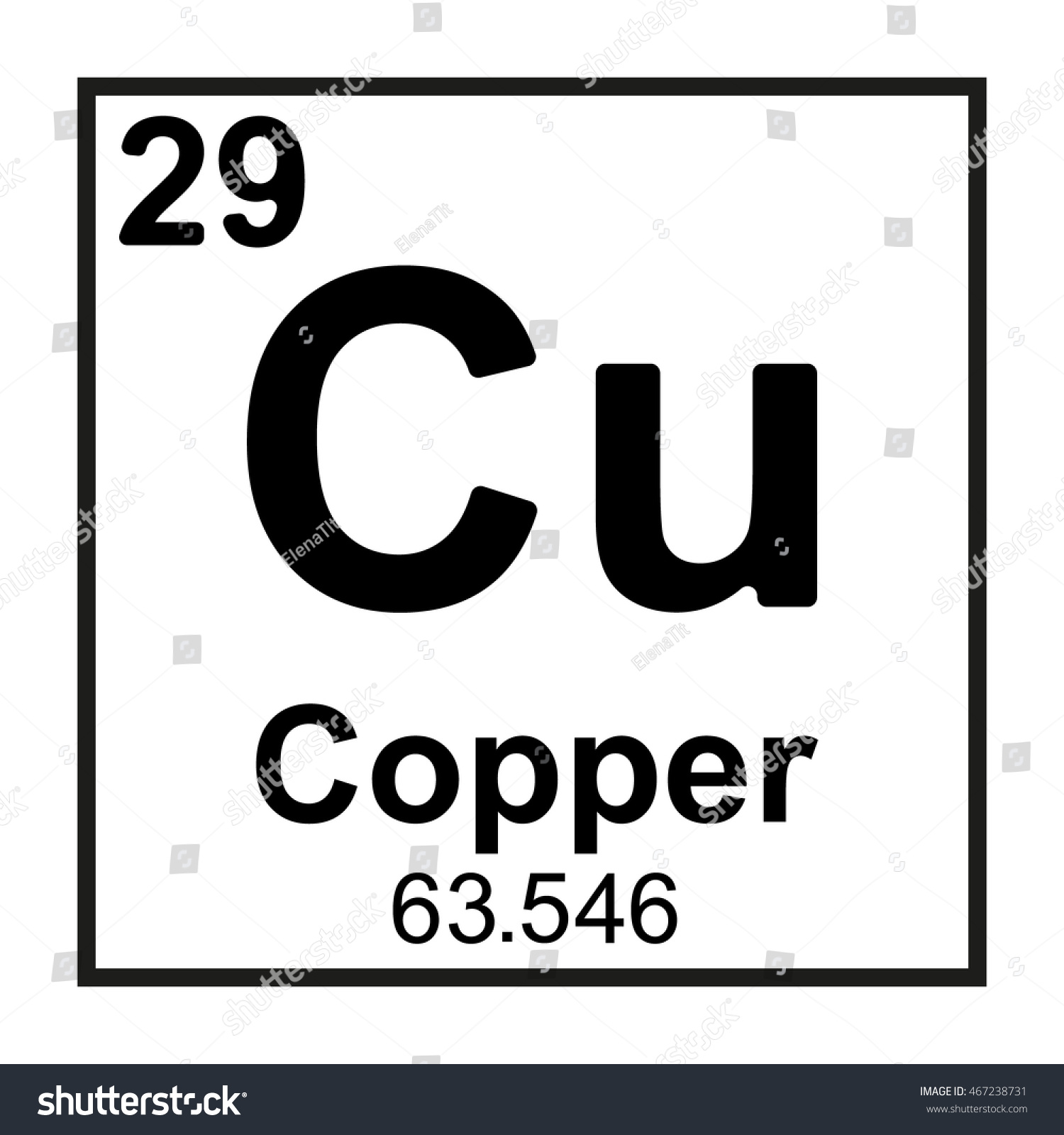 Periodic table element copper stock vector 467238731 shutterstock periodic table element copper gamestrikefo Gallery