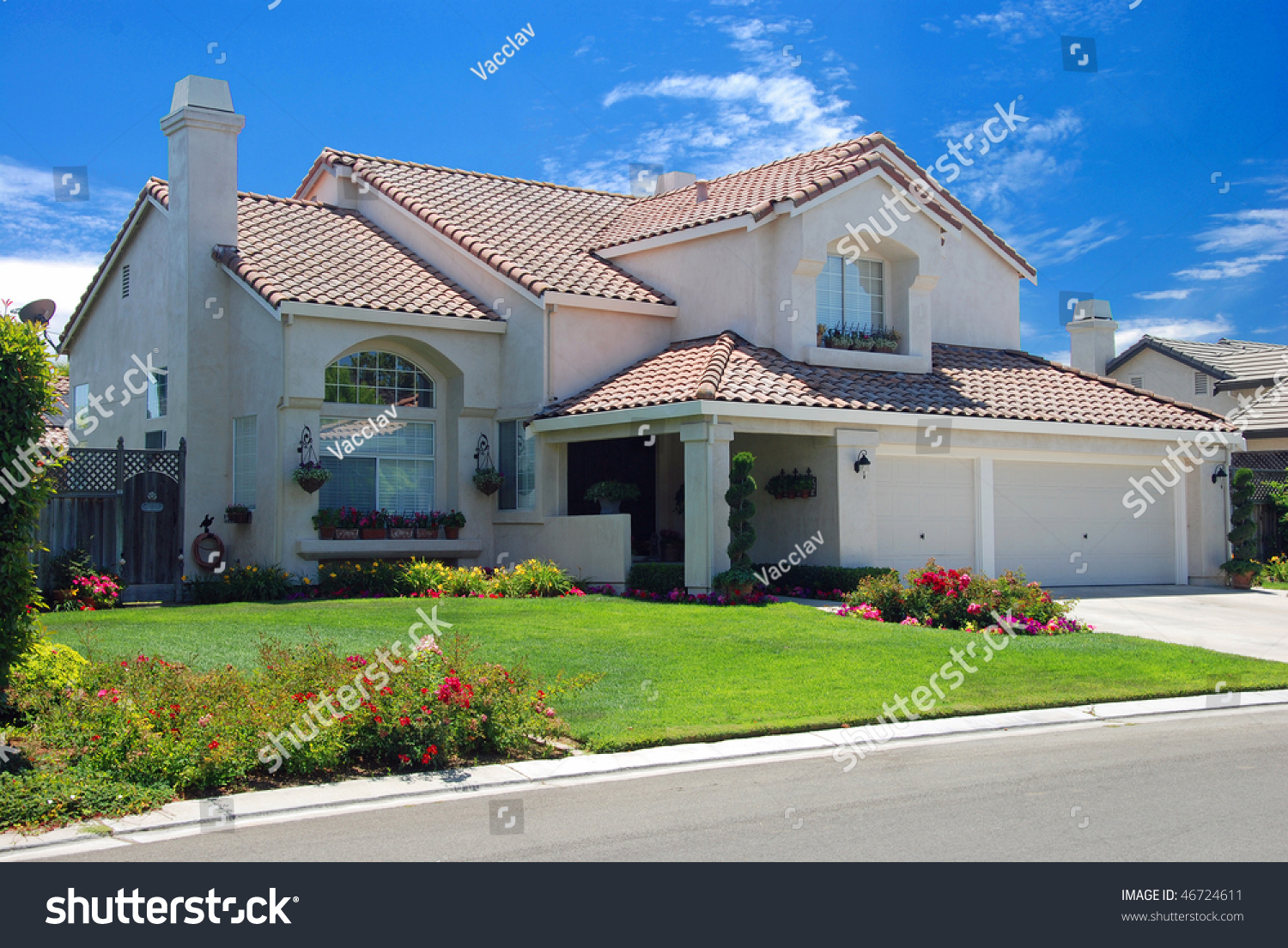 New American Dream Home Stock Photo 46724611 Shutterstock