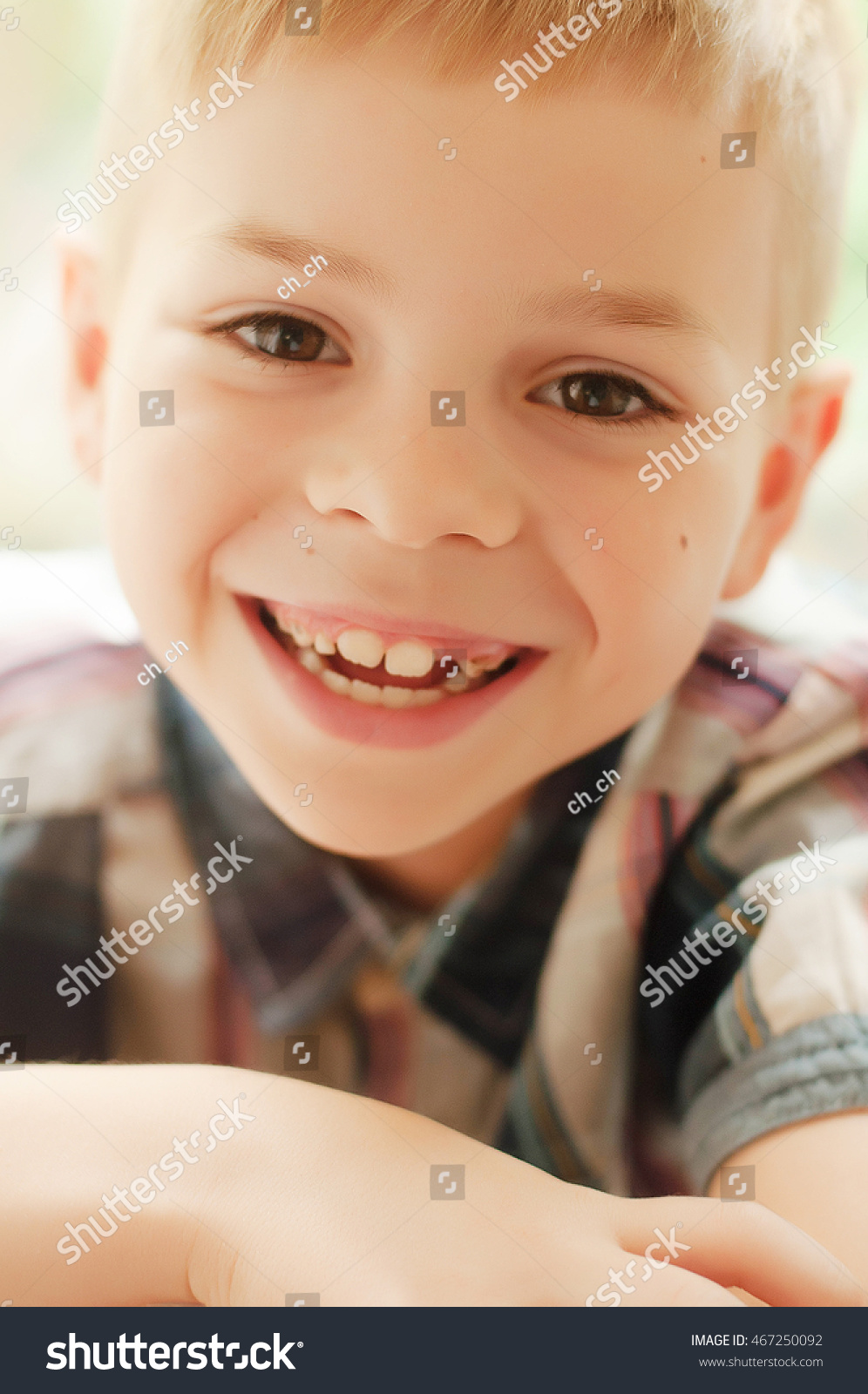 childs happy face portrait cute kid stock photo (100% legal