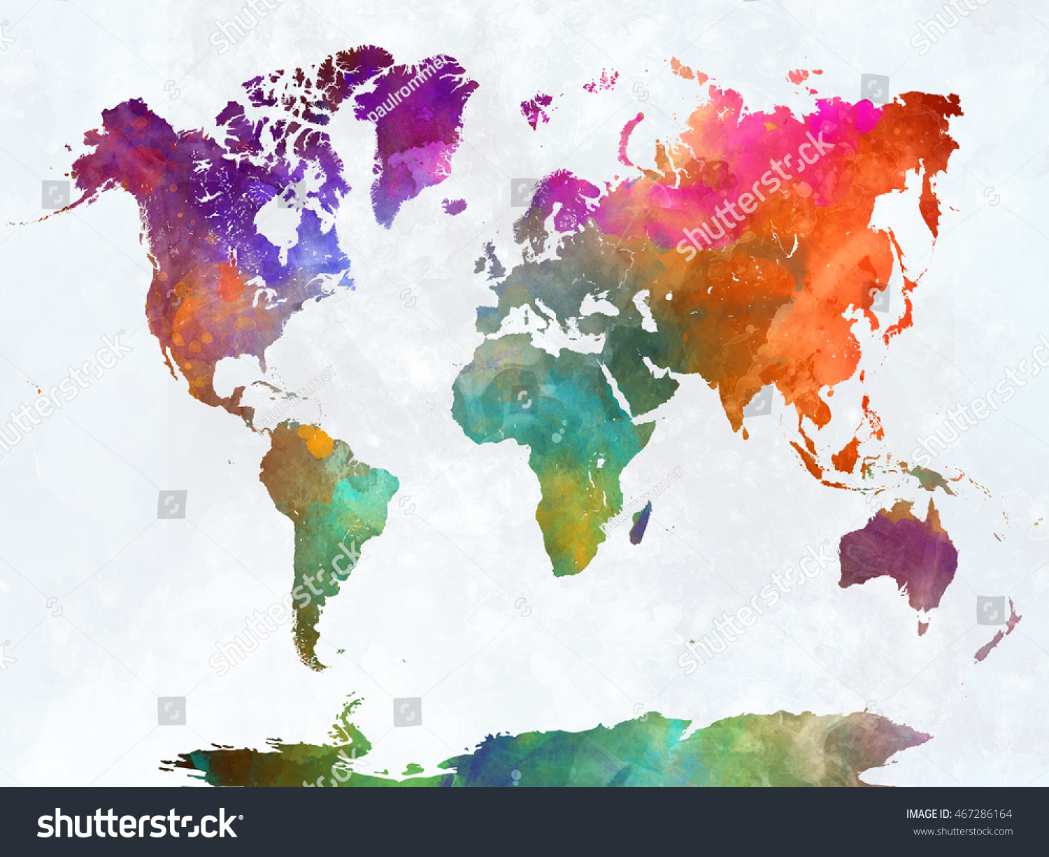 World map watercolor painting abstract splatters stock world map in watercolor painting abstract splatters gumiabroncs Image collections