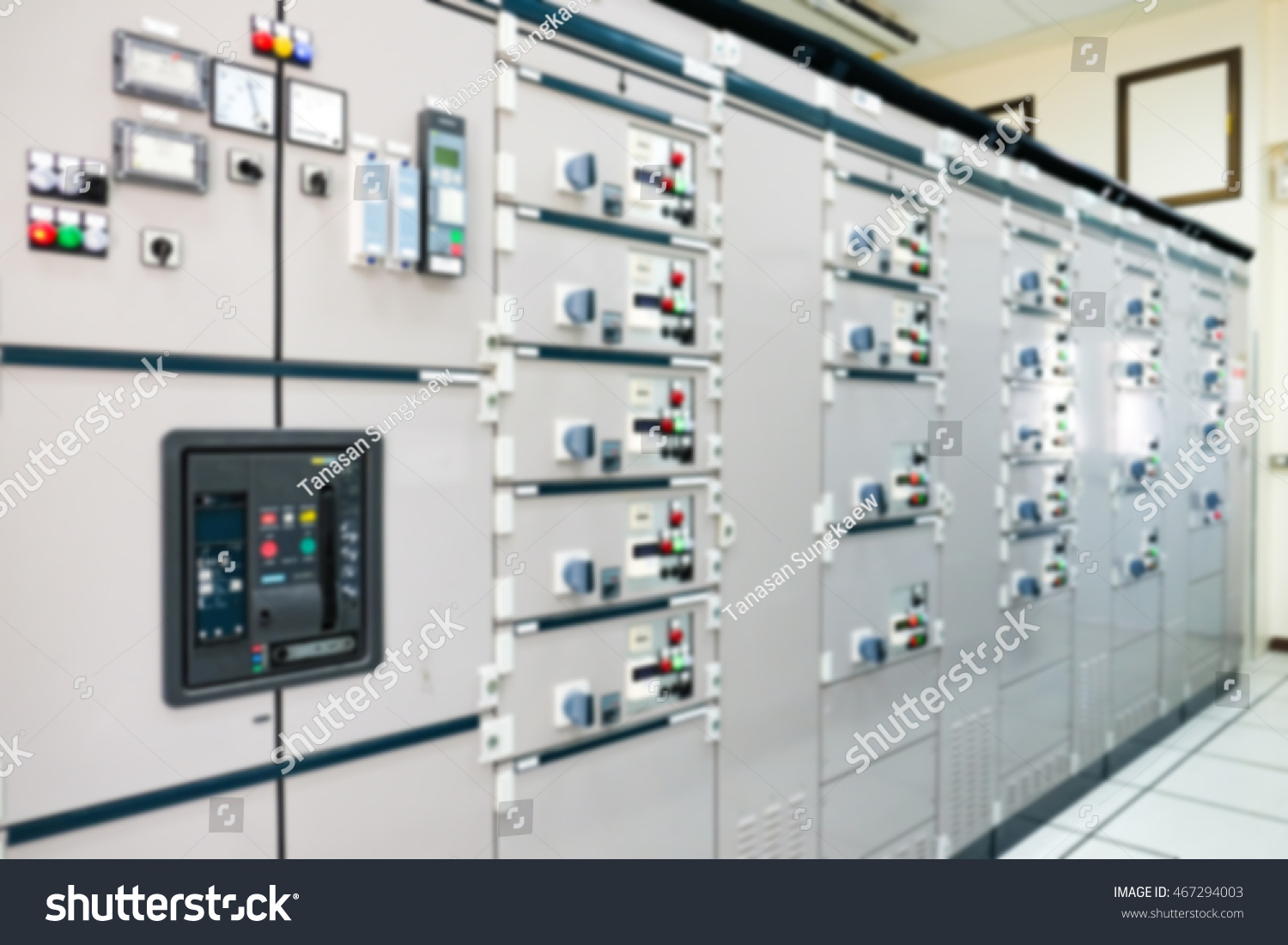 Blurry Electrical Control Panel Central Control Stock Photo (Edit ...
