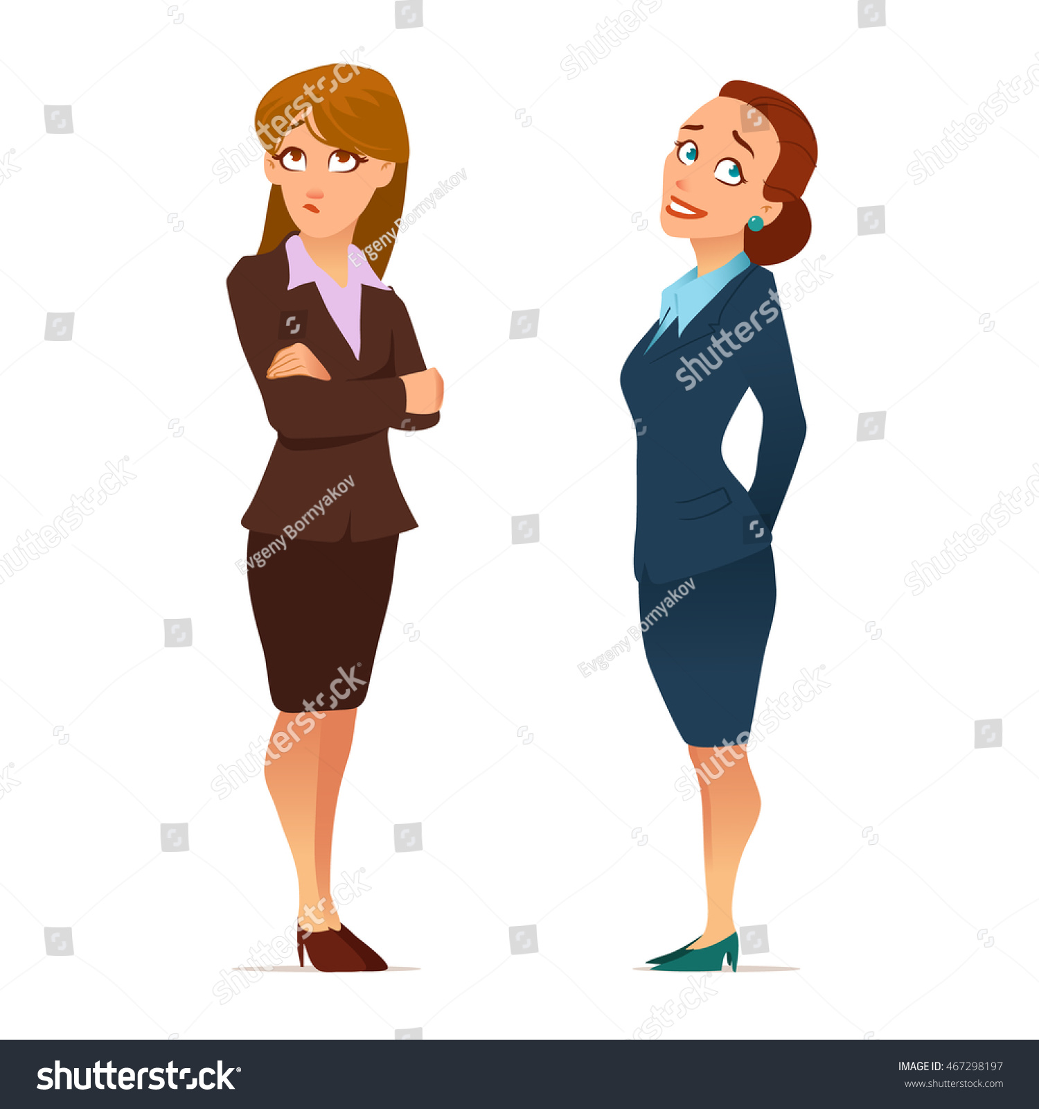 Cartoon Characters Clothes : Business teacher young women elegant office stock vector