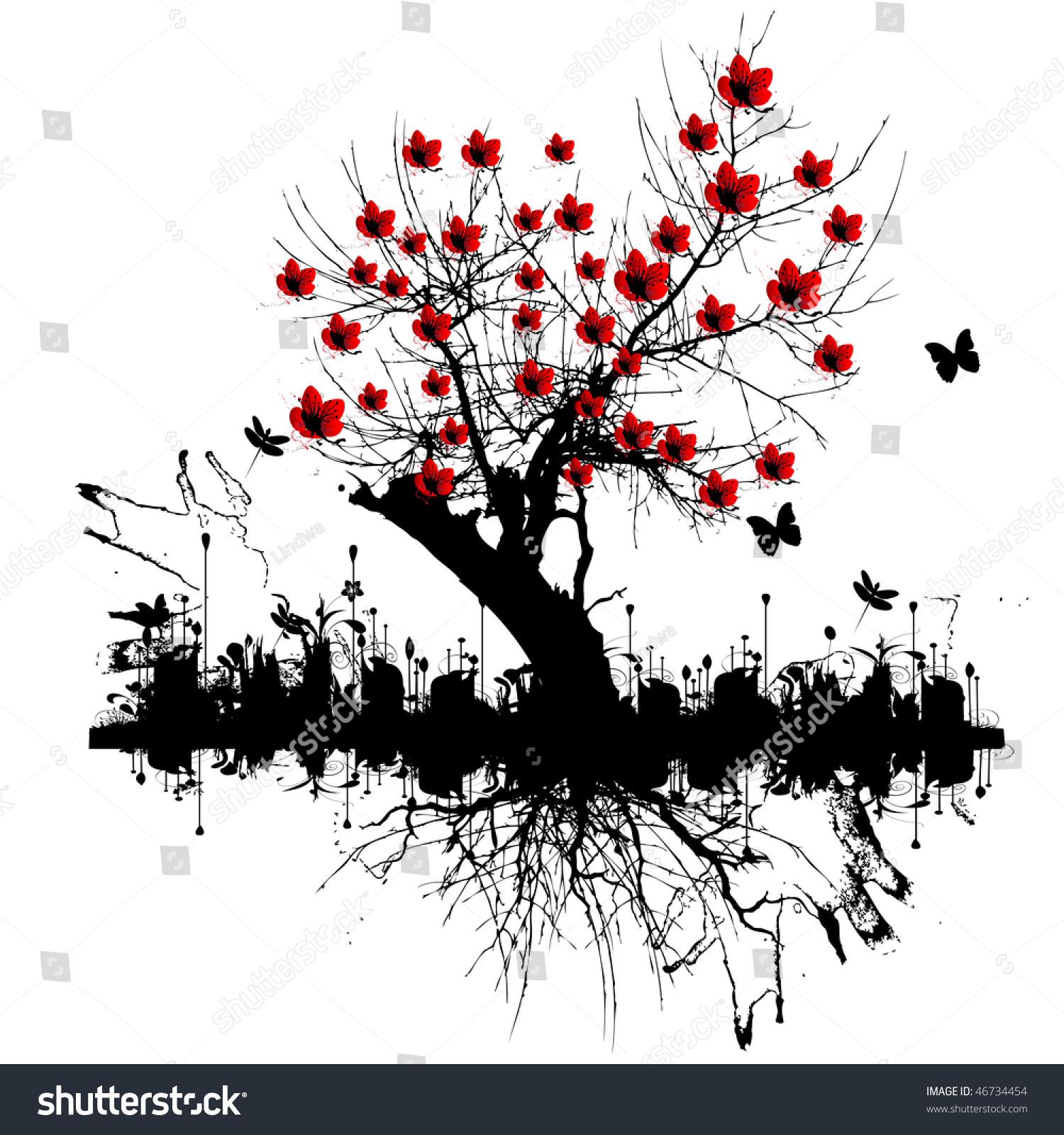 Дерево с корнем тату