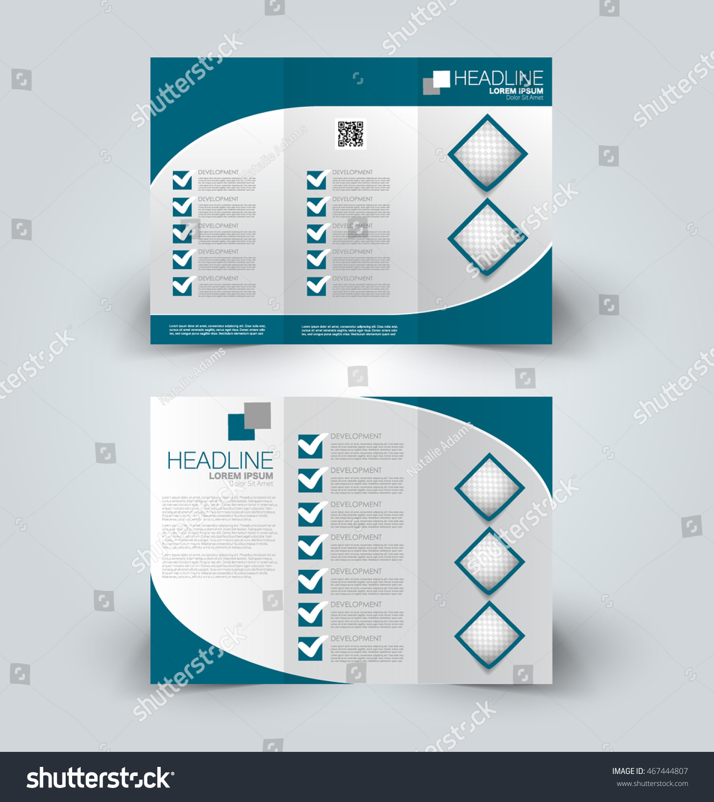 brochure mock up template - brochure mock design template business education stock
