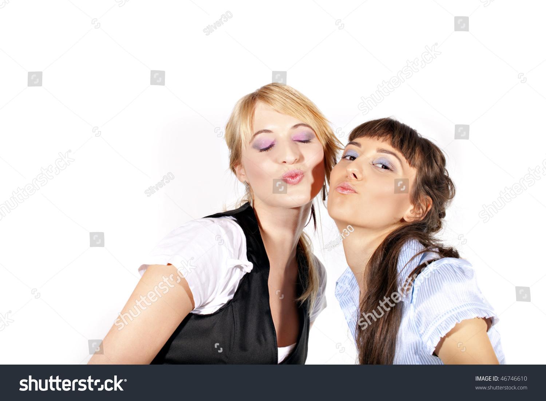 White girls kissing