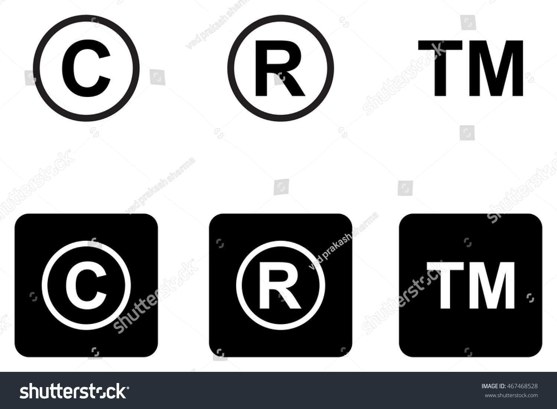 Copyright trademark icons set stock vector 467468528 shutterstock copyright trademark icons set buycottarizona