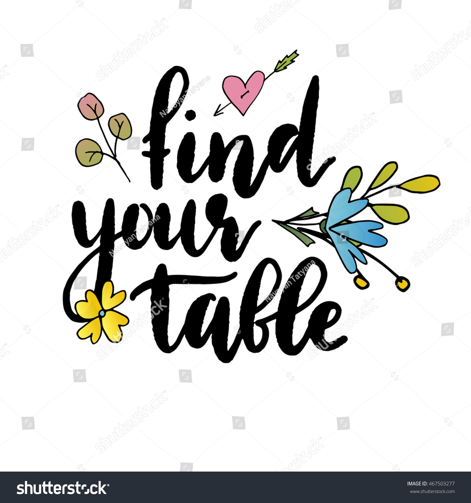 Find Your Table Templates Labels Card Stock Vector