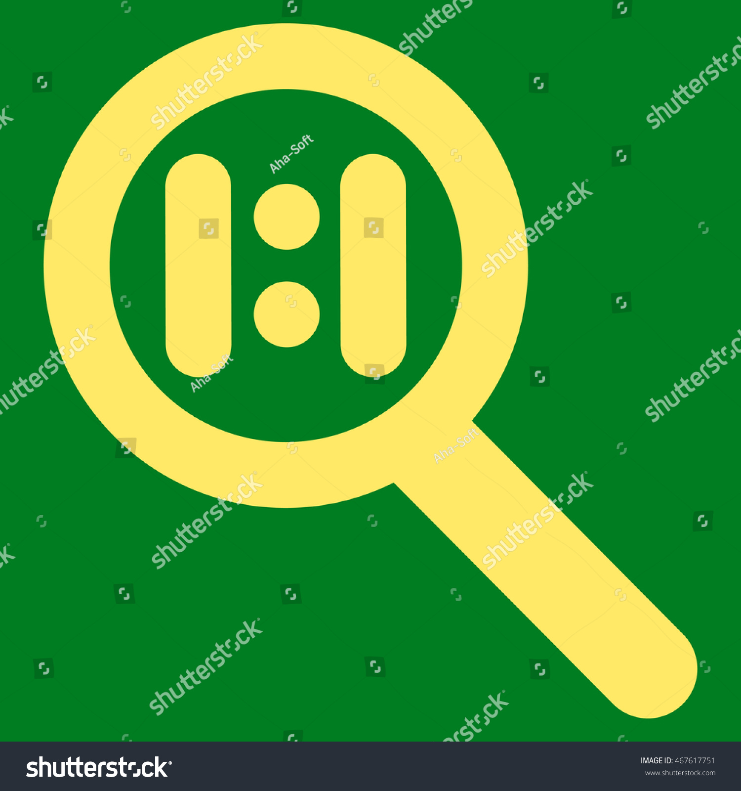 Zoom Actual Scale Glyph Icon Style Stock Illustration 467617751 ...