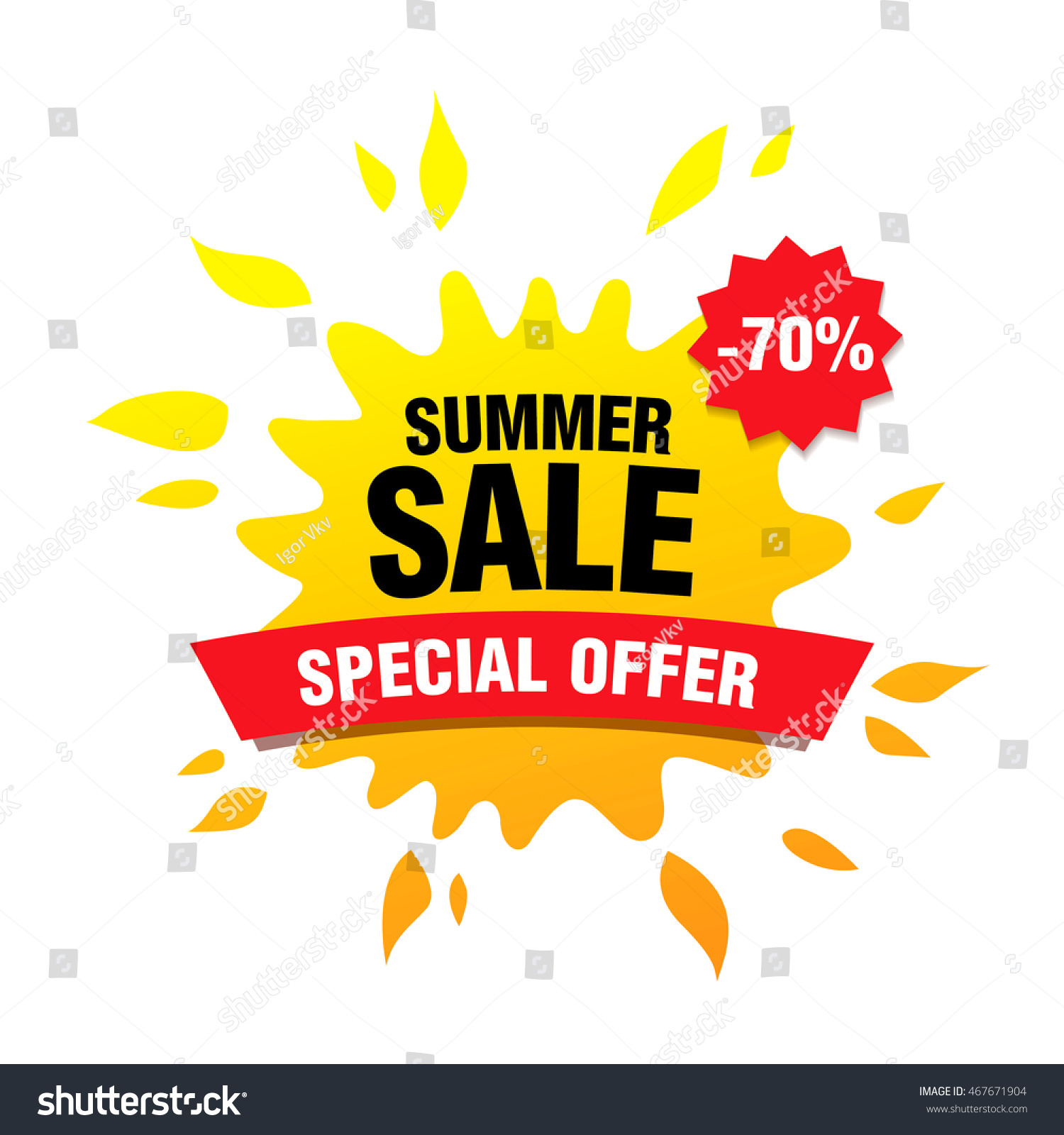Summer Sale Banner Stock Vector Shutterstock