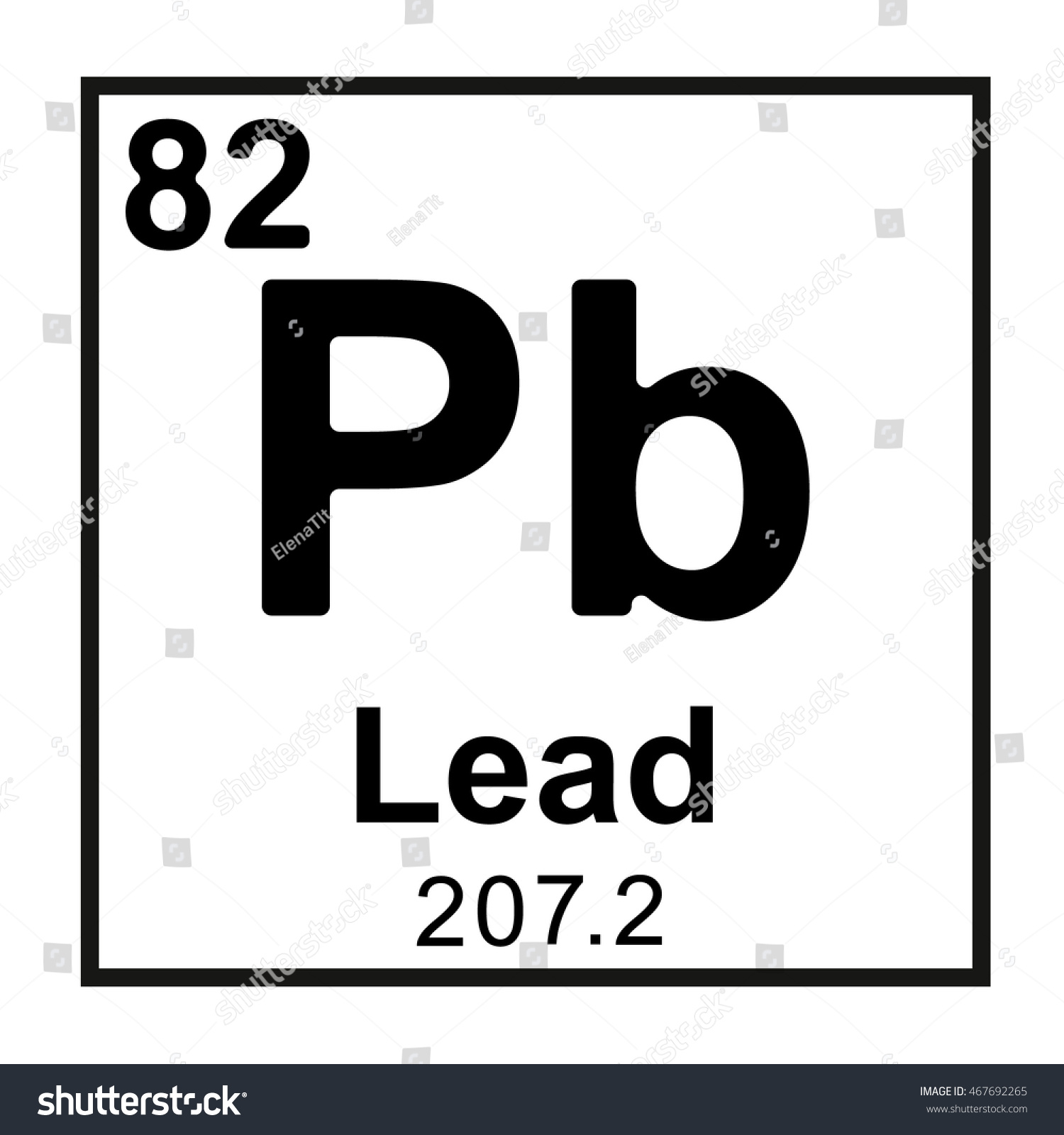 Periodic Table Element Lead Stock Vector Royalty Free 467692265