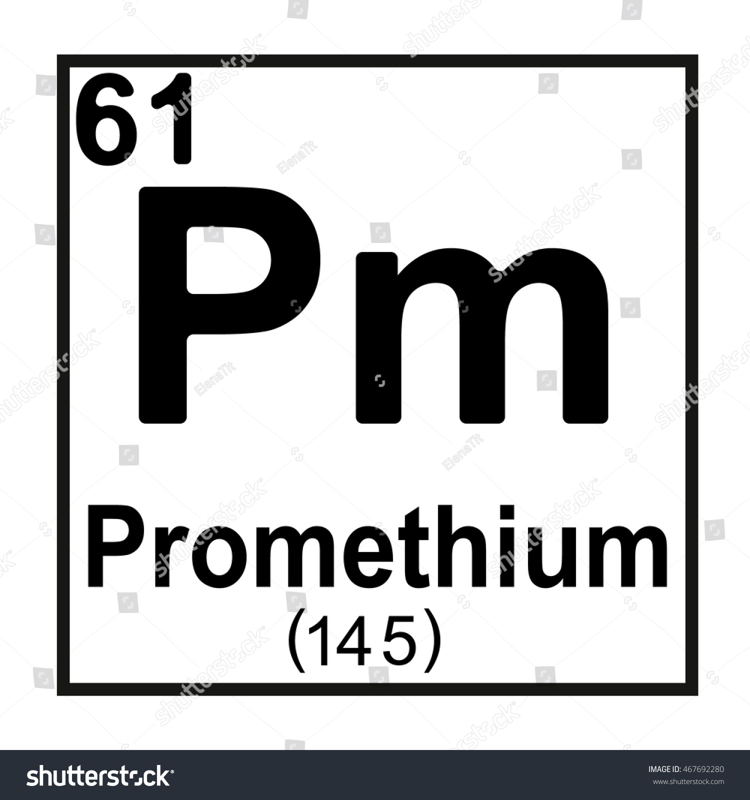 Periodic table element promethium stock vector 467692280 periodic table element promethium gamestrikefo Gallery