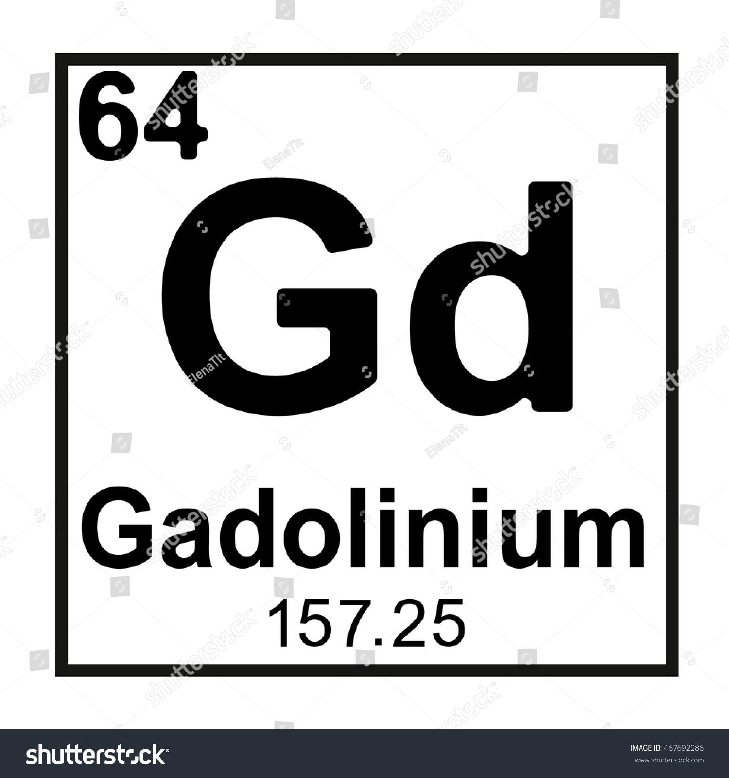 Periodic table element gadolinium stock vector 467692286 periodic table element gadolinium gamestrikefo Image collections