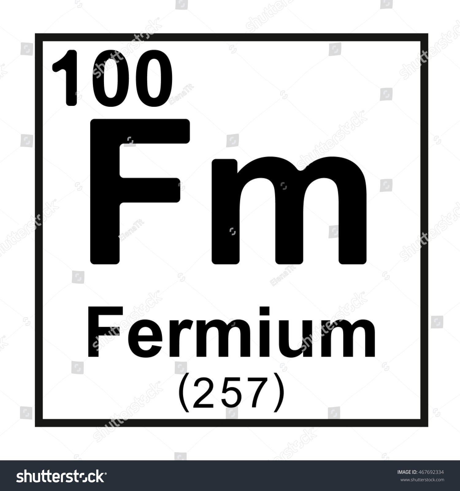 Periodic table element fermium stock vector 467692334 shutterstock periodic table element fermium gamestrikefo Gallery