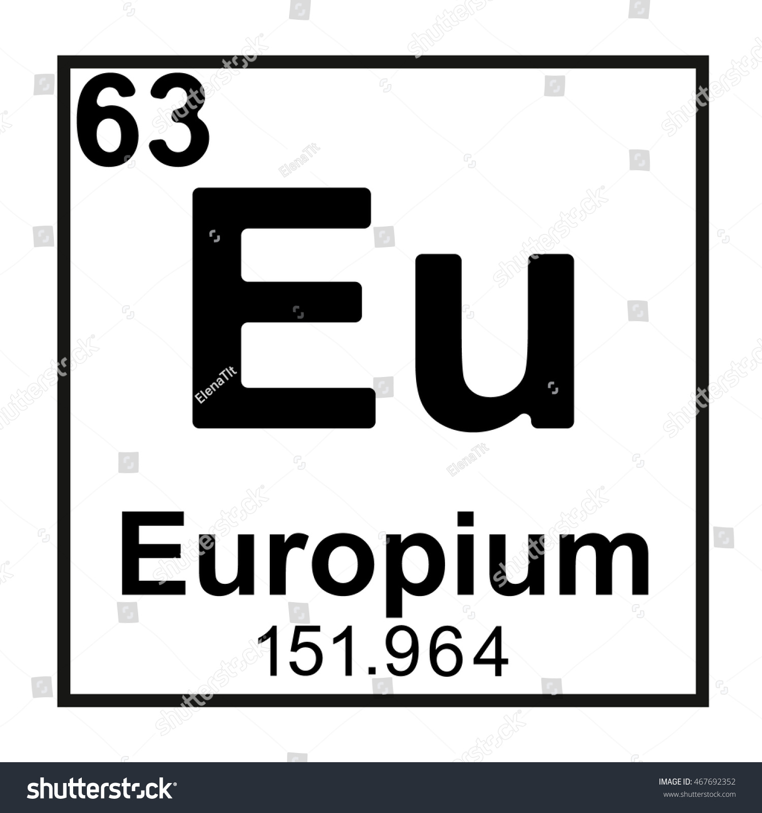 Periodic table element europium stock vector 467692352 shutterstock periodic table element europium gamestrikefo Choice Image