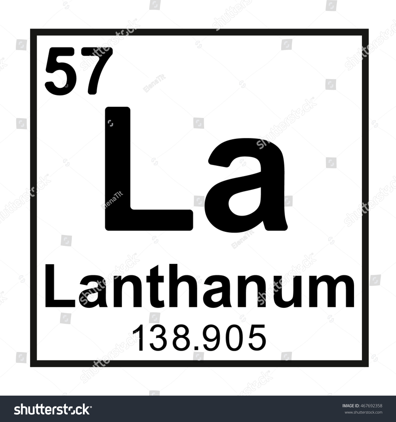 Periodic table element lanthanum stock vector 467692358 shutterstock periodic table element lanthanum gamestrikefo Gallery