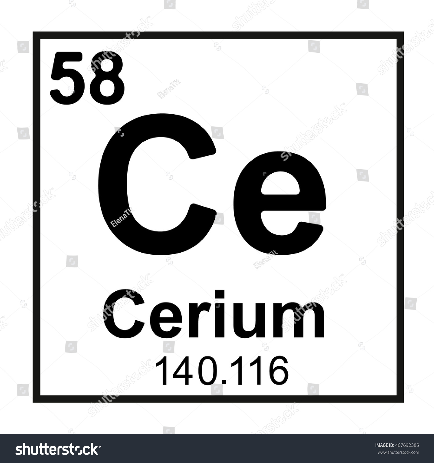 Carbon monoxide symbol periodic table image collections periodic cerium on the periodic table aviongoldcorp periodic table element cerium stock vector 467692385 shutterstock gamestrikefo image gamestrikefo Image collections