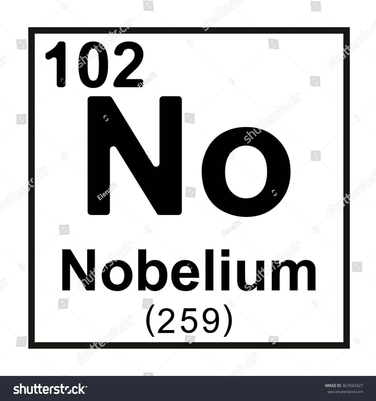 Periodic table element nobelium stock vector 467692427 shutterstock periodic table element nobelium gamestrikefo Choice Image