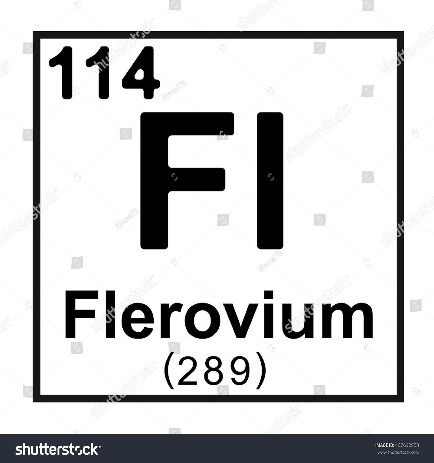 Periodic table element flerovium stock vector 467692553 shutterstock periodic table element flerovium gamestrikefo Images