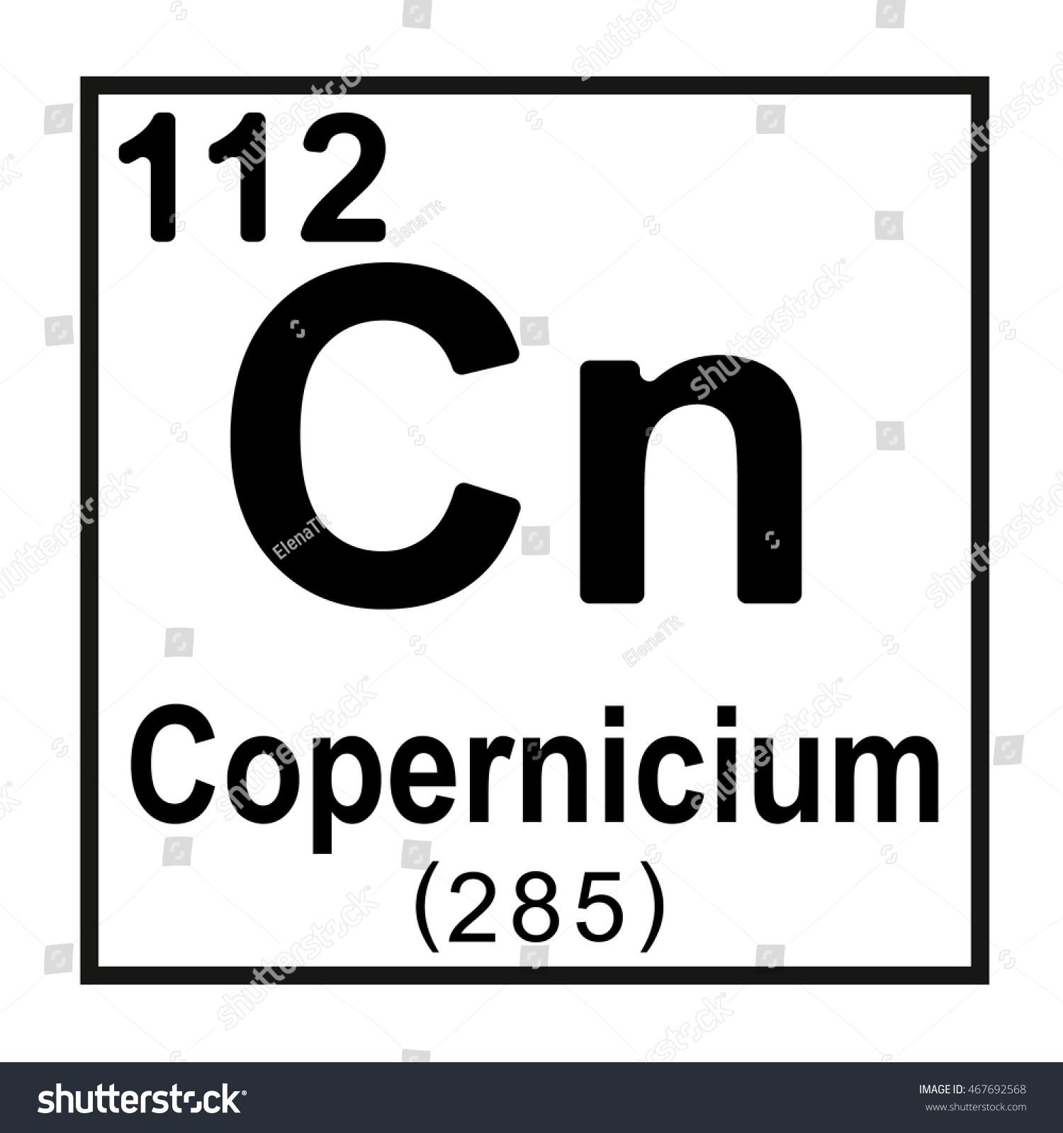 Periodic table element copernicium stock vector 467692568 periodic table element copernicium gamestrikefo Images