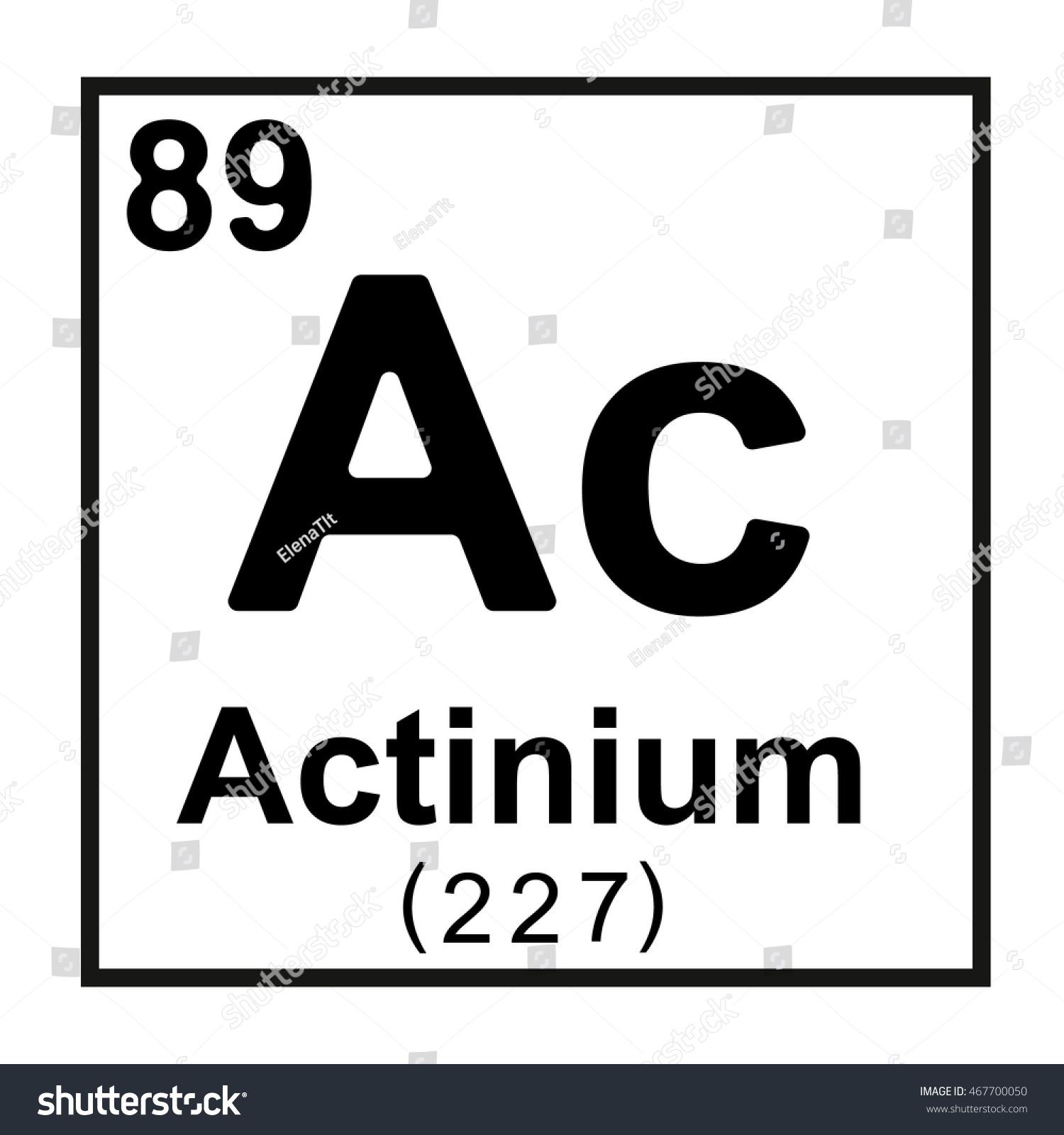 Periodic table element actinium stock vector 467700050 shutterstock periodic table element actinium urtaz Images