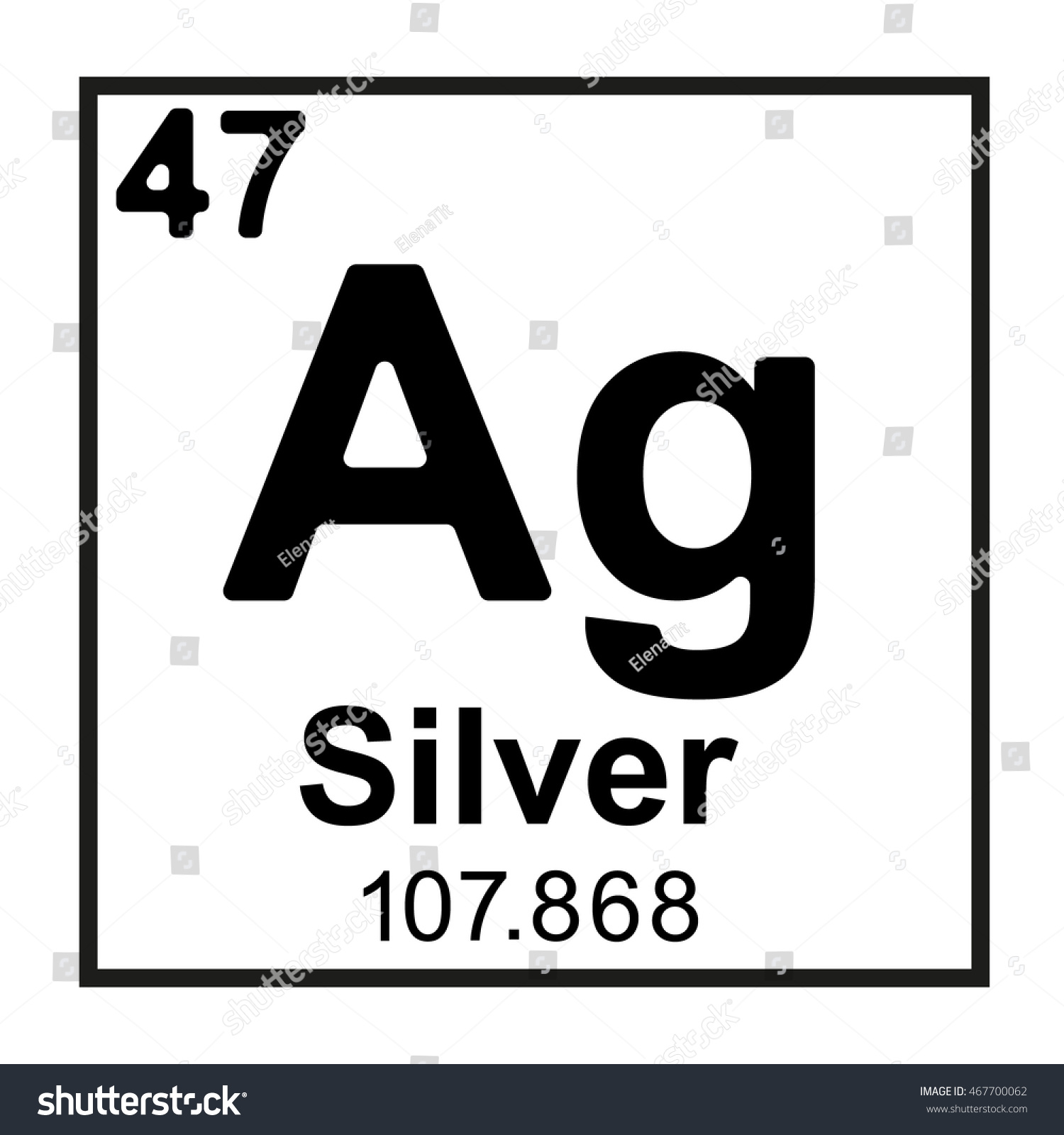 Periodic table element silver stock vector 467700062 shutterstock periodic table element silver gamestrikefo Image collections