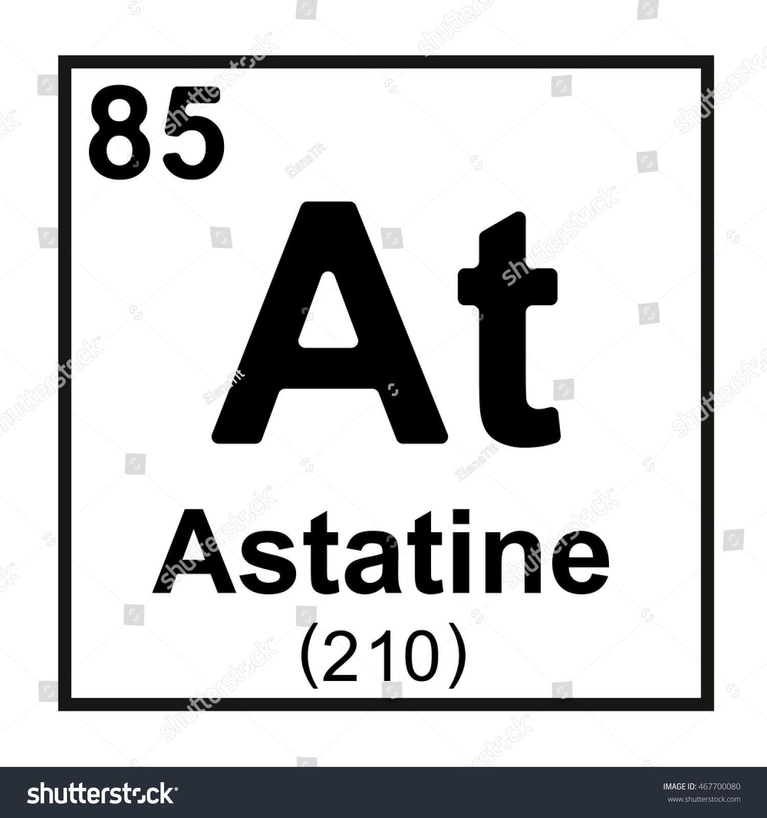 Periodic table element astatine stock vector 467700080 shutterstock periodic table element astatine gamestrikefo Image collections
