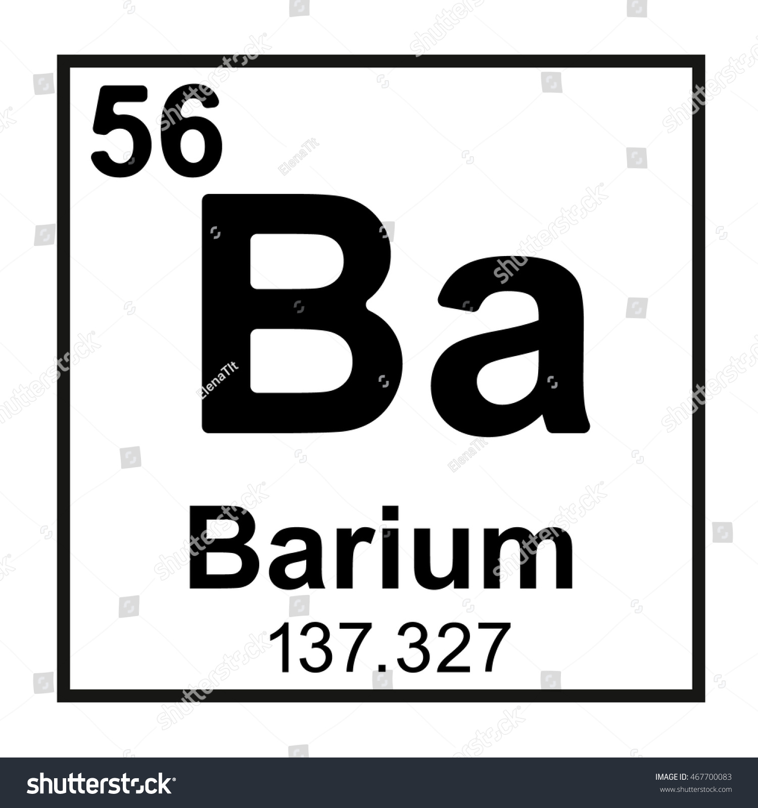 Periodic table element barium stock vector 467700083 shutterstock periodic table element barium gamestrikefo Gallery