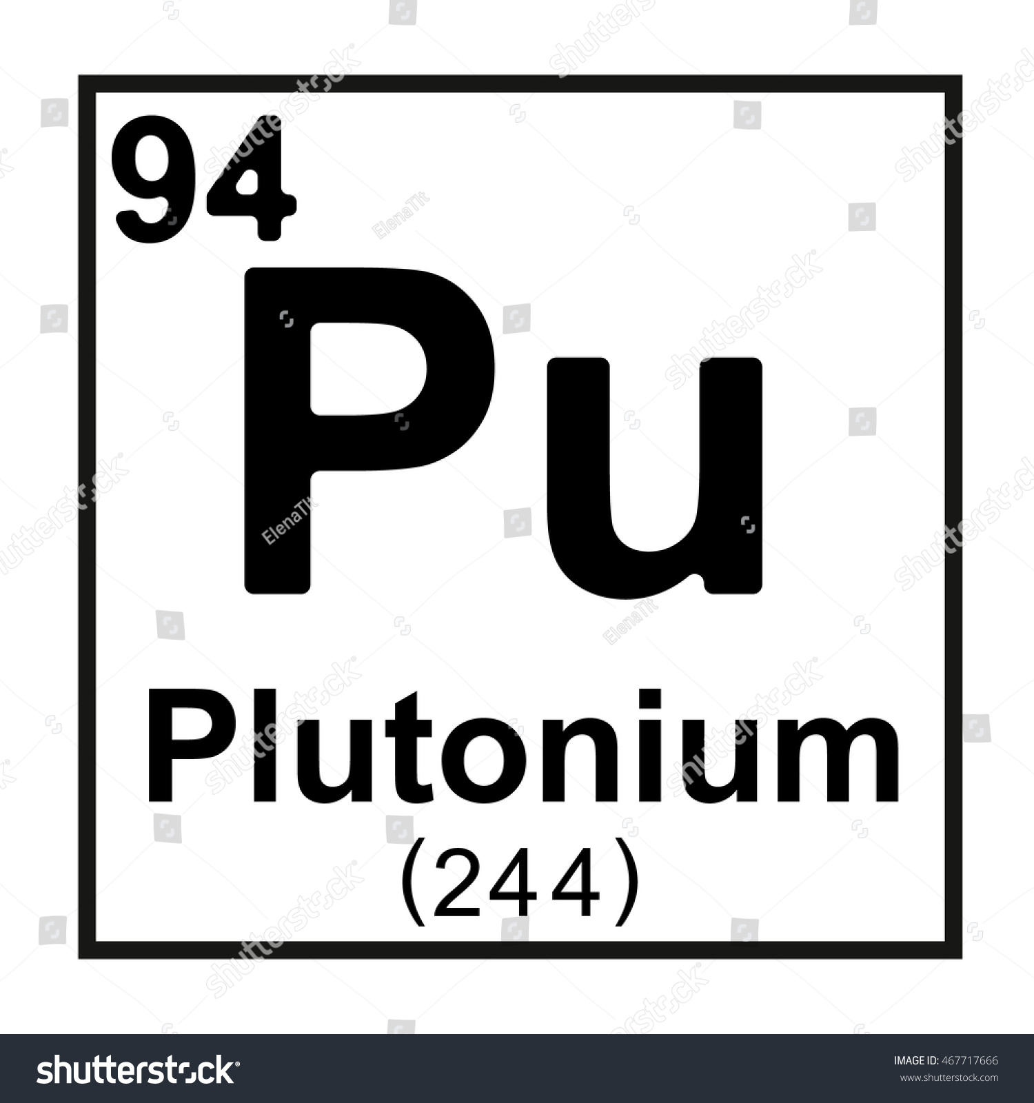 Periodic table element plutonium stock vector 467717666 shutterstock periodic table element plutonium gamestrikefo Image collections