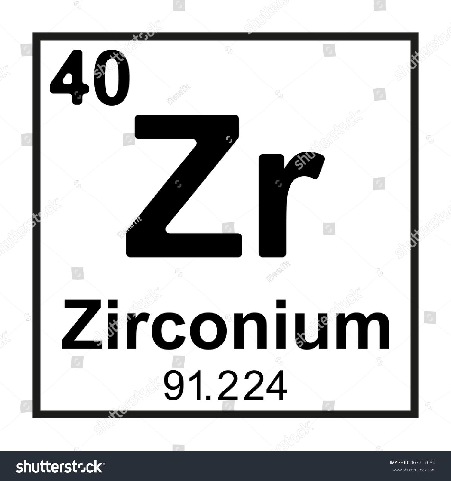 Periodic table element zirconium stock vector royalty free periodic table element zirconium urtaz Gallery