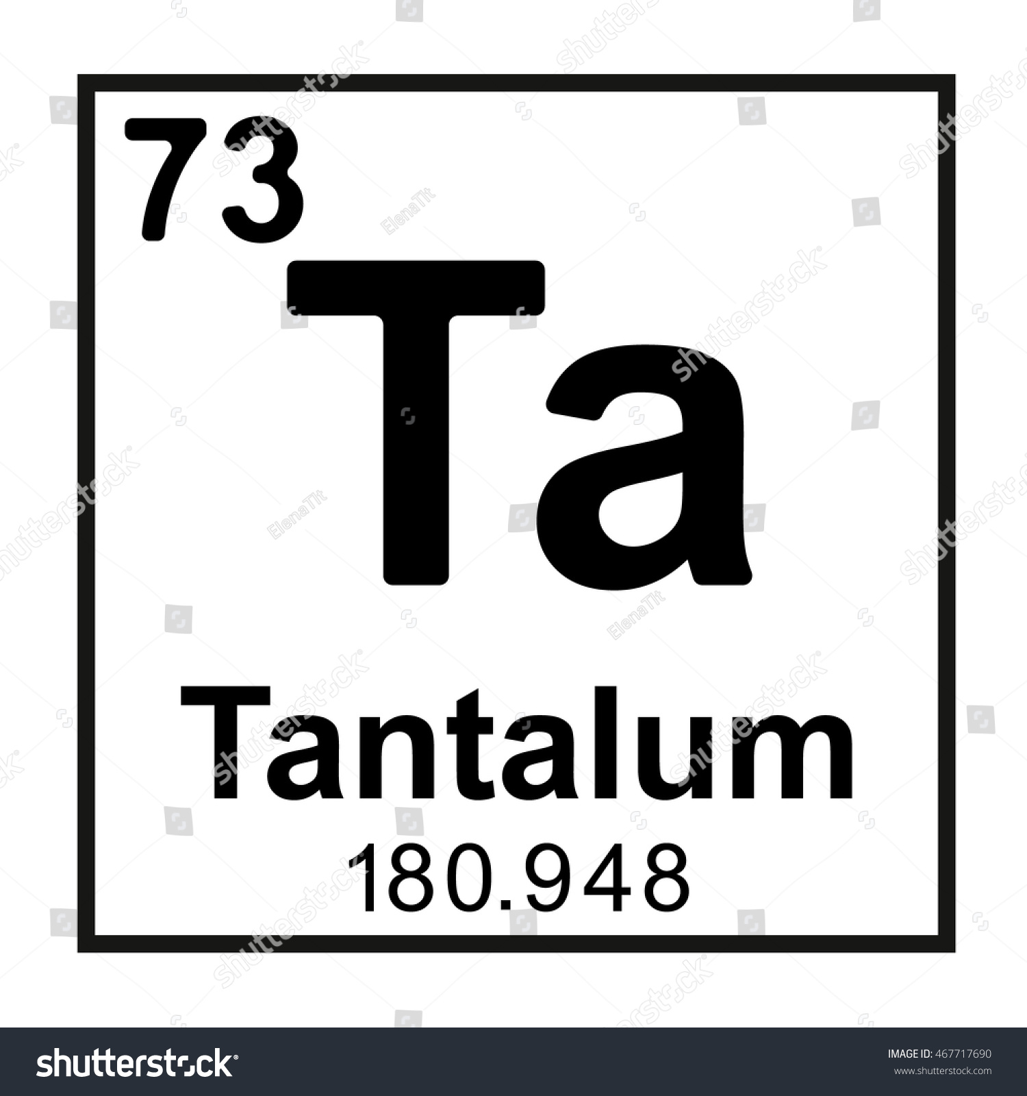 Periodic table element tantalum stock vector 467717690 shutterstock periodic table element tantalum gamestrikefo Images