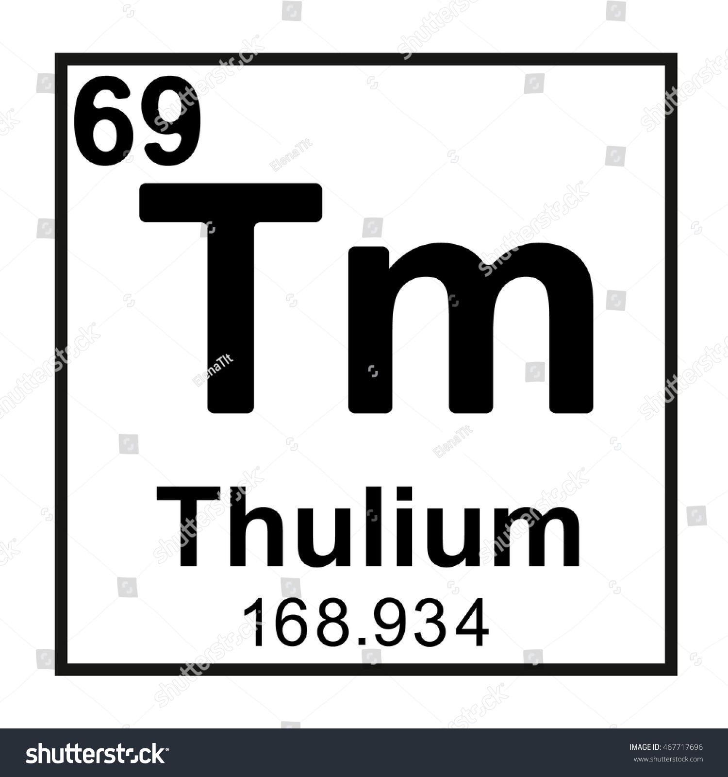 Periodic table element thulium stock vector 467717696 shutterstock periodic table element thulium gamestrikefo Gallery