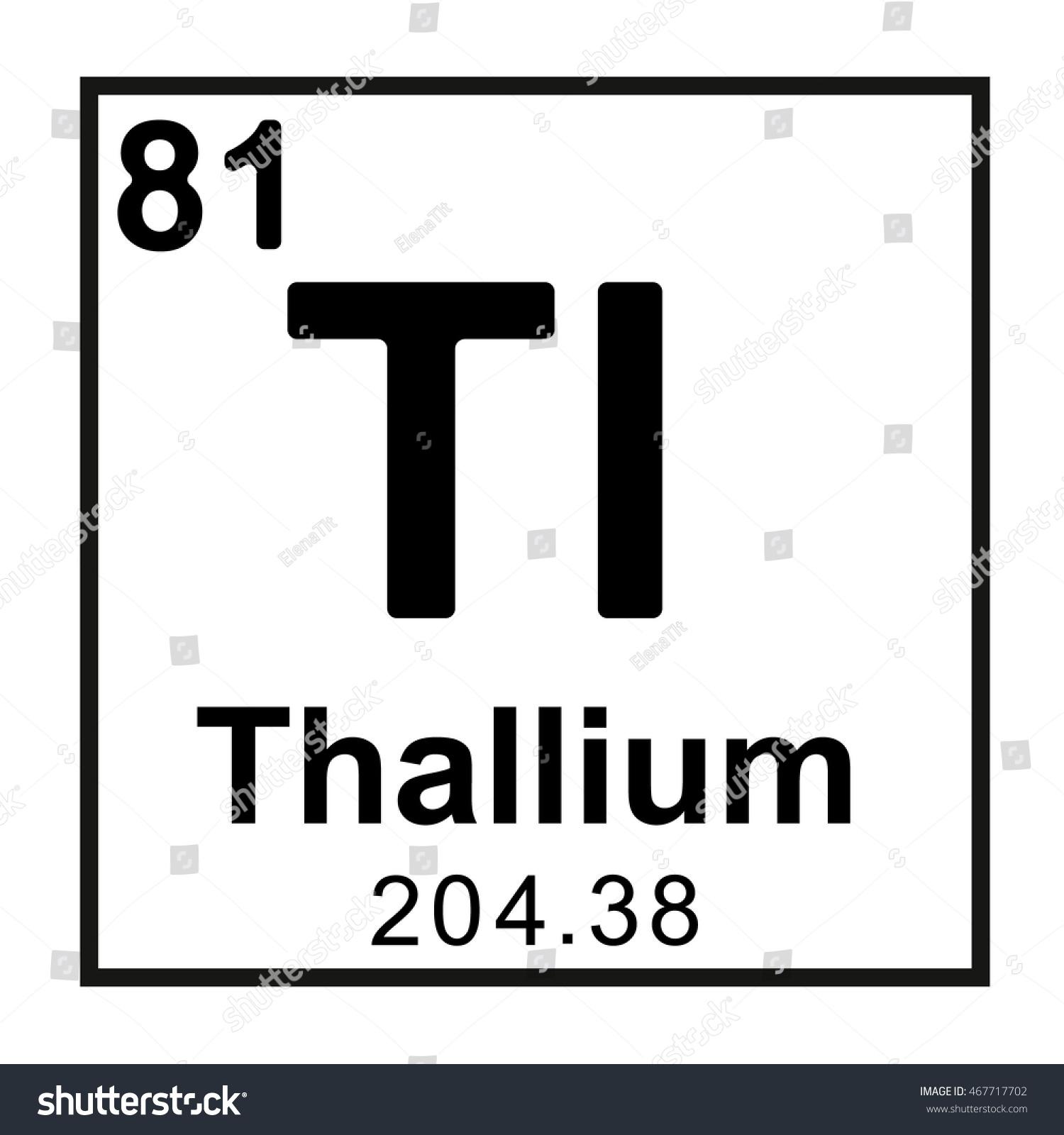 Periodic table element thallium stock vector royalty free periodic table element thallium urtaz Choice Image