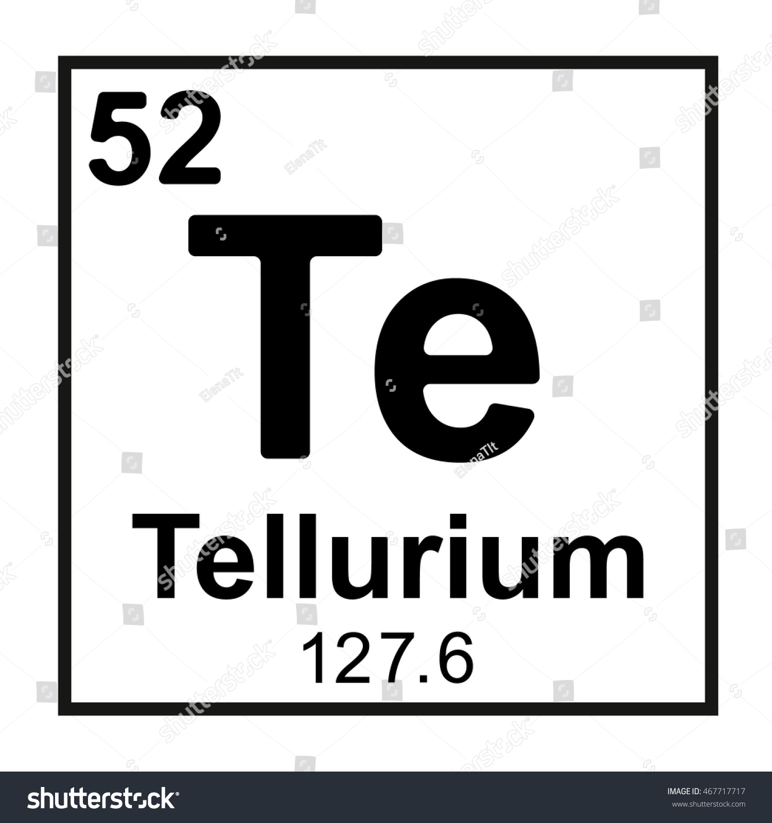 Periodic table element tellurium stock vector 467717717 shutterstock periodic table element tellurium gamestrikefo Choice Image