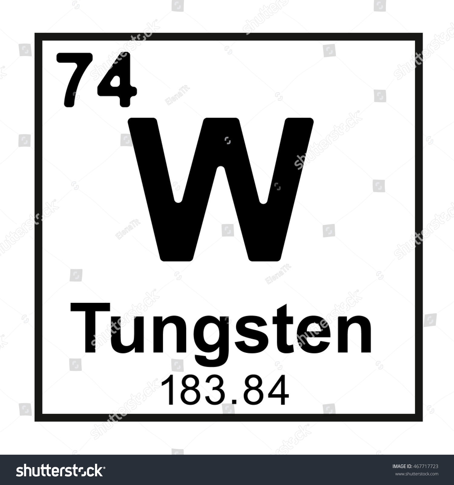 Periodic table element tungsten stock vector 467717723 shutterstock periodic table element tungsten gamestrikefo Gallery