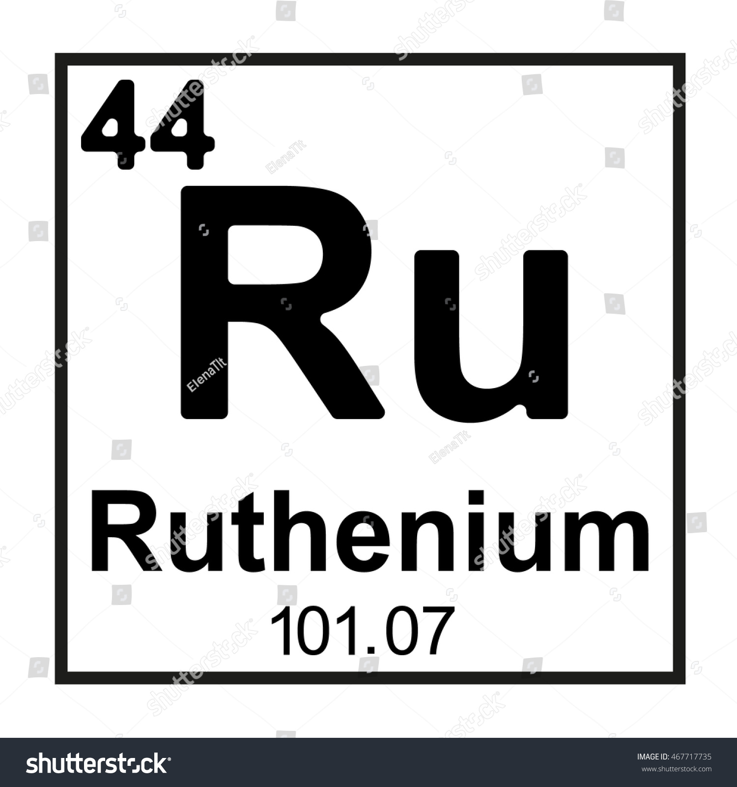 Periodic table element ruthenium stock vector 467717735 shutterstock periodic table element ruthenium gamestrikefo Choice Image
