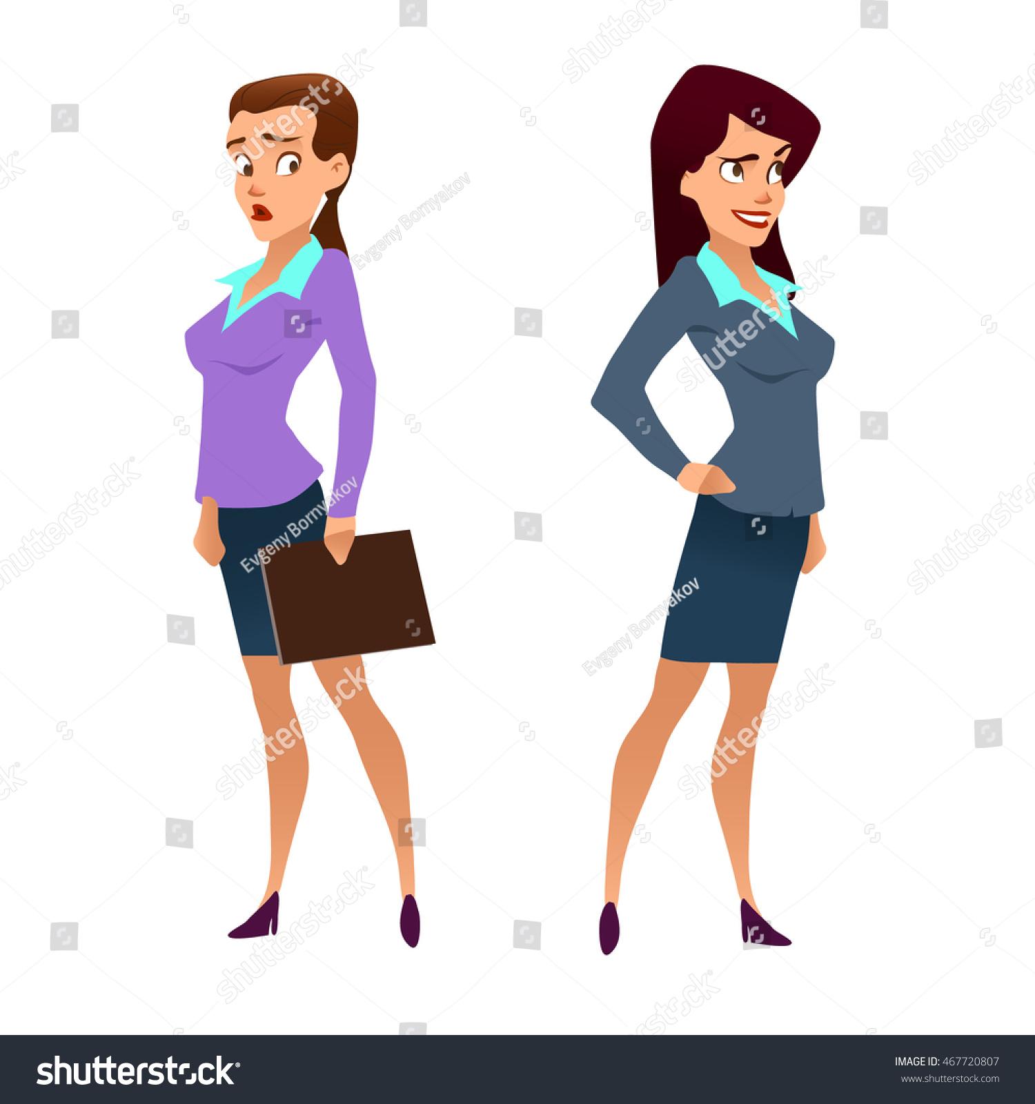 Business Teacher Young Women Elegant Office Stock Vektor 467720807 ...