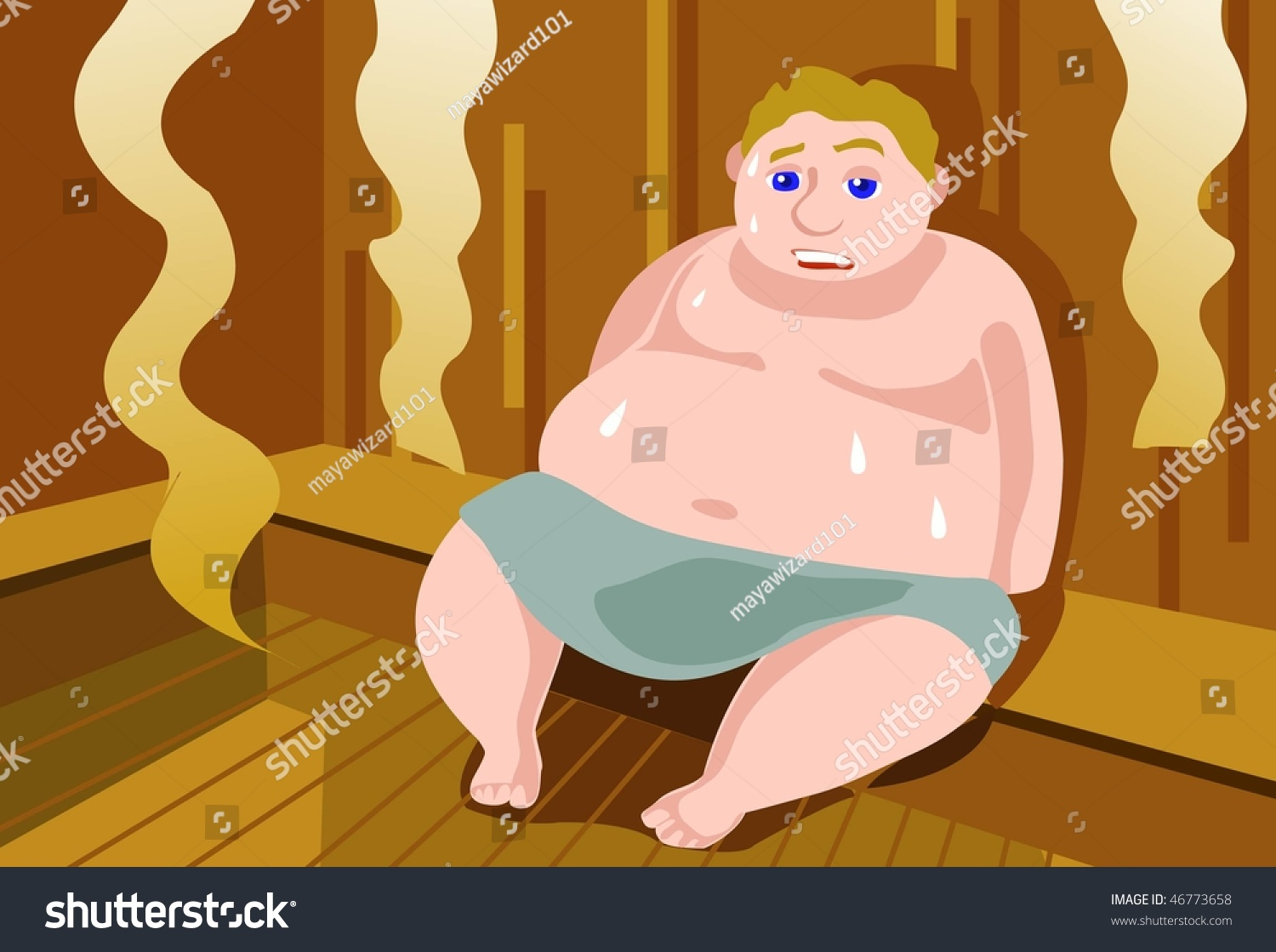 Fat Sweaty Man 66