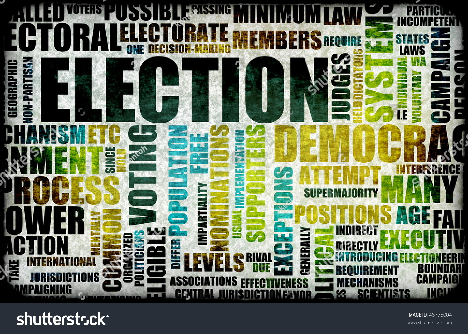 Election Process Campaign Concept Background Stock Illustration ...