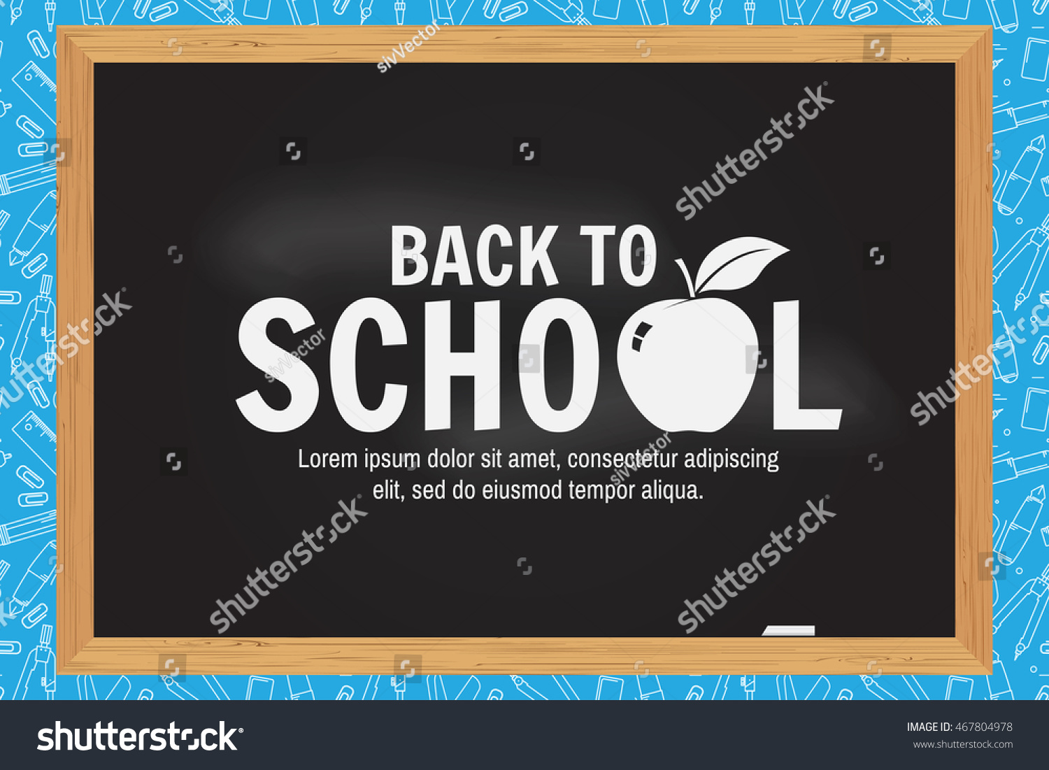 Welcome Back School Design Greeting Card Stock Vector Royalty Free