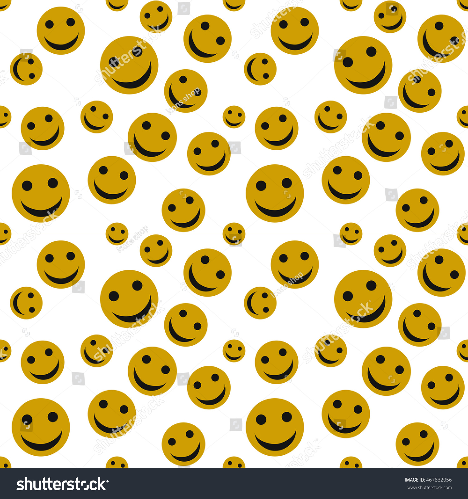 Cute smiley face happy face seamless stock vector 467832056 cute smiley face happy face seamless pattern background voltagebd Gallery