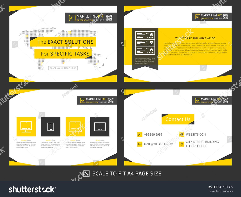 corporate presentation vector template business presentation stock, Presentation templates