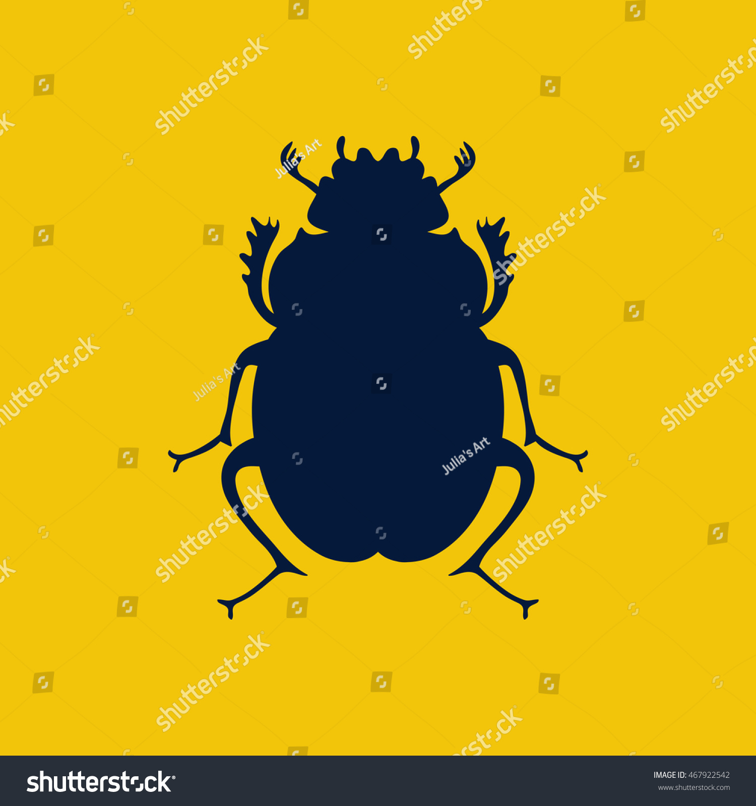 Scarab Beetle Egyptian Symbol Logo Template Stock Vector Royalty