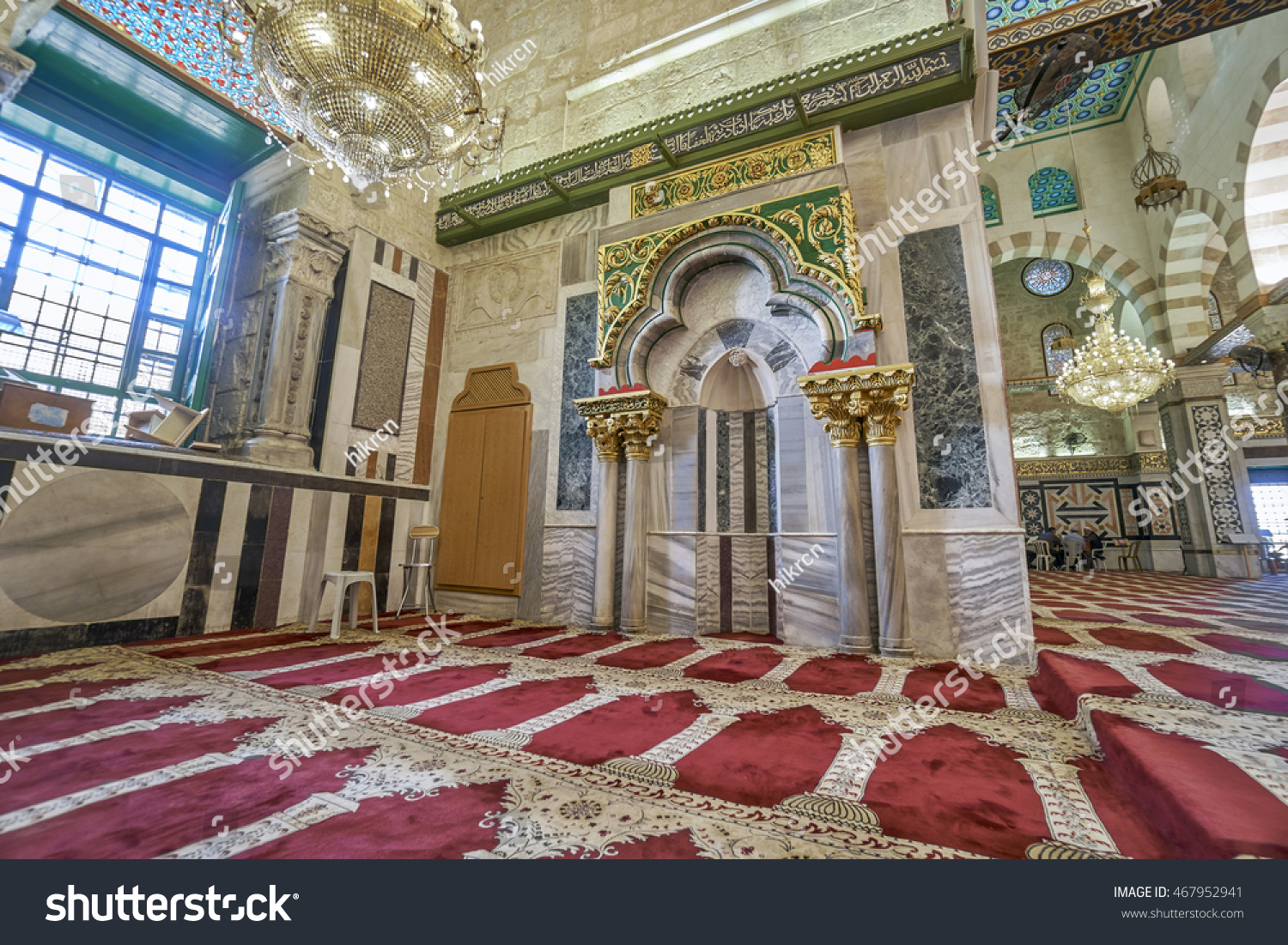JERUSALEM PALESTINE ISRAEL JUNE 3 2016 View of one of the altars located in the Al Aqsa mosque Jerusalem on June 3 2016 Al Aqsa Mosque in Jerusalem the 3rd holiest site in Islam