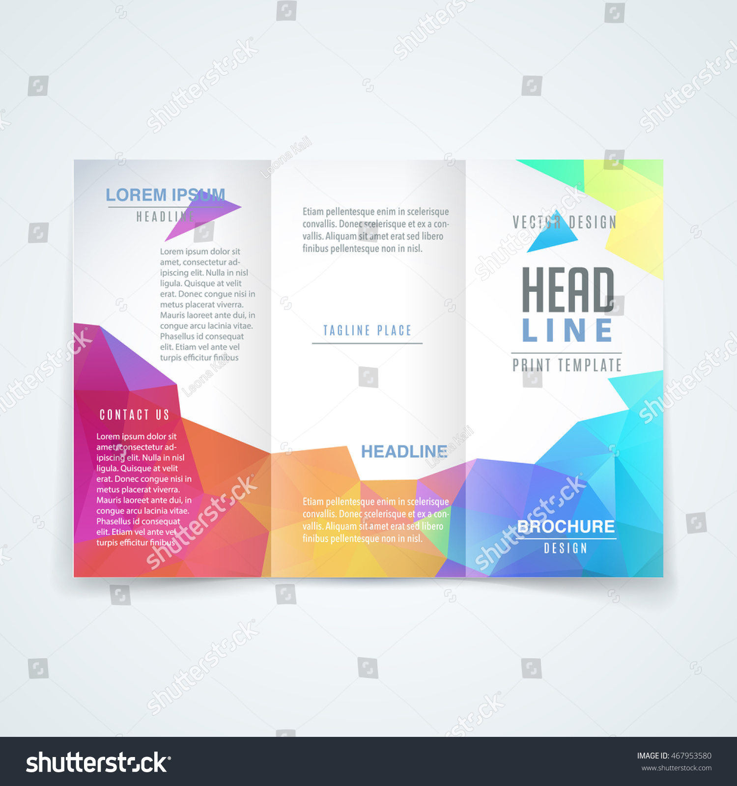Vector Modern Trifold Brochure Design Template Stock Vector - Tri fold brochure design templates