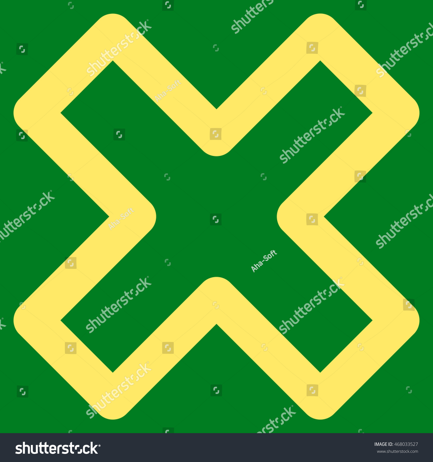 Delete X Cross Vector Icon Style Outline Stock Vector (Royalty Free ...