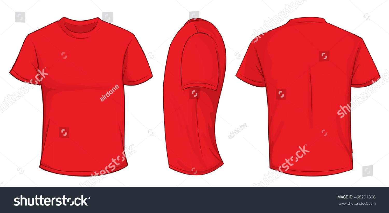 Zazzle t shirt design template - Vector Illustration Blank Red Men Tshirt Stock Vector 468201806