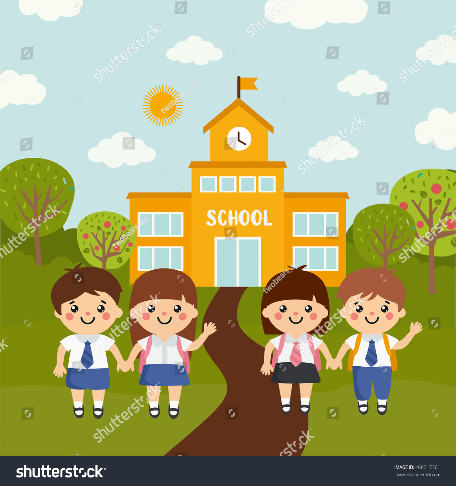 when do children go to preschool go school vector illustration vectores en 959